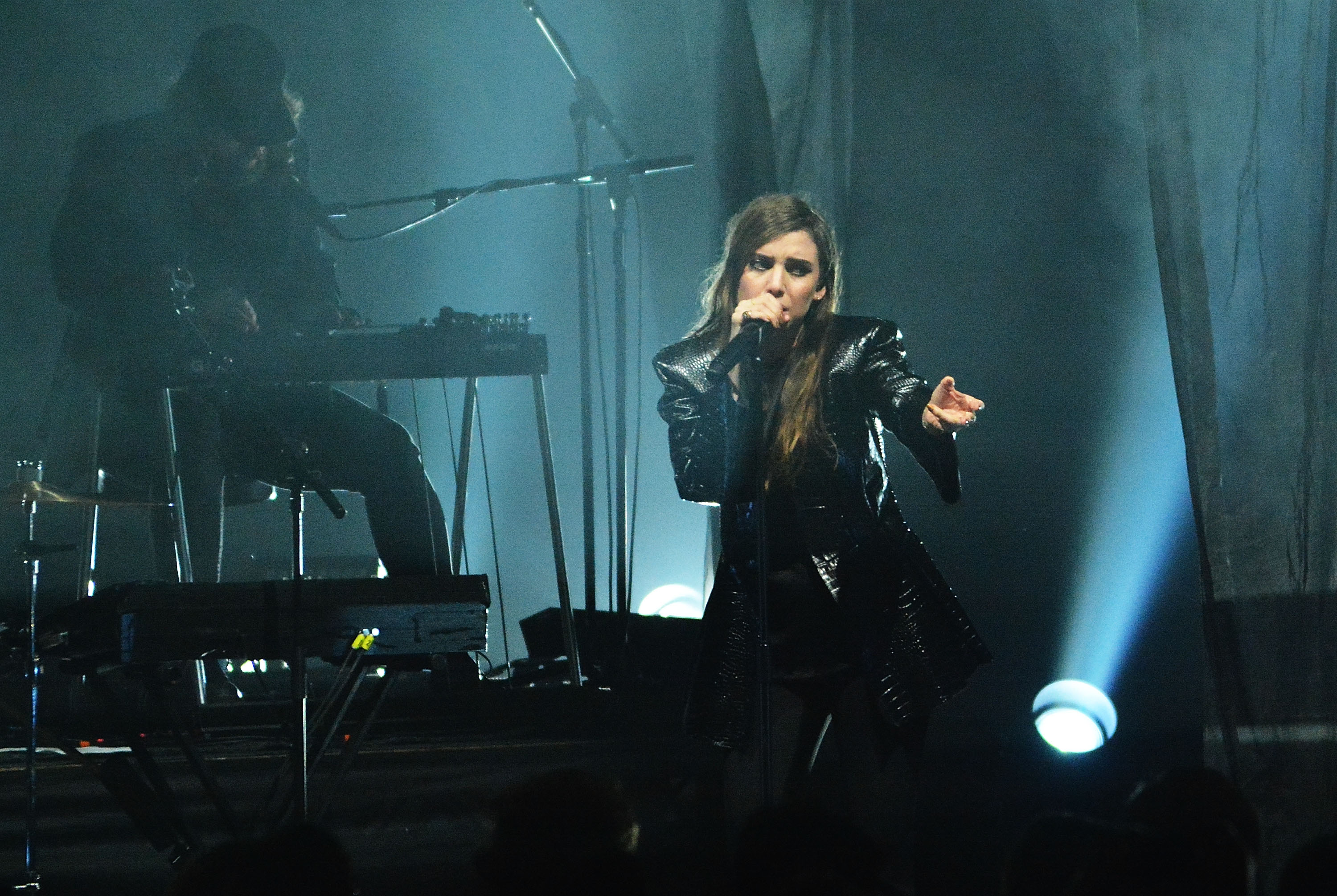 Lykke Li performs live on stage at Eventim Apollo, Hammersmith on November 13, 2014 in London, United Kingdom.