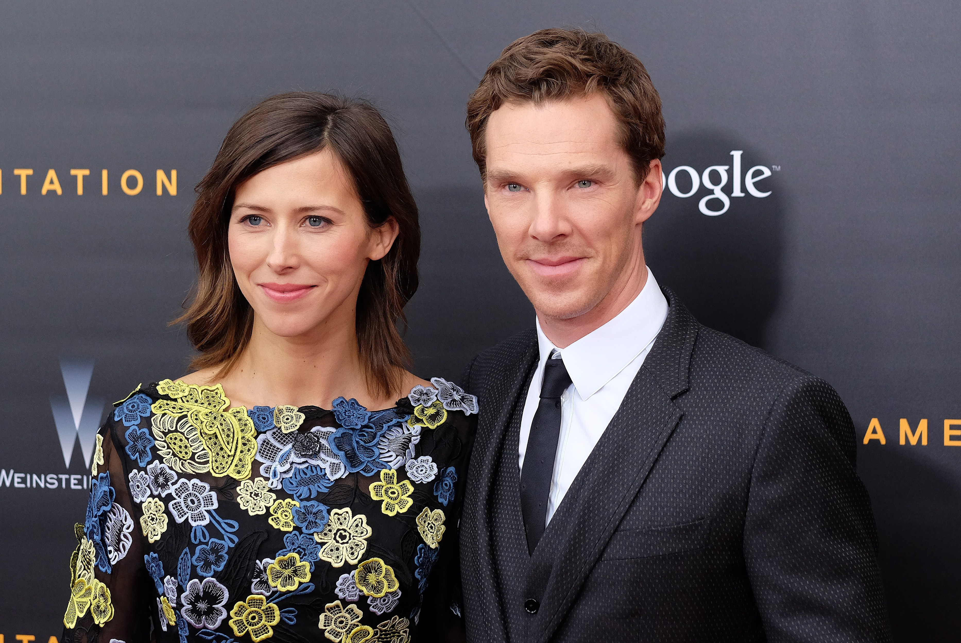 Director Sophie Hunter (L) and British actor Benedict Cumberbatch arrive for the US premiere of  The Imitation Game  at the Ziegfeld Theatre in New York on November 17, 2014.
