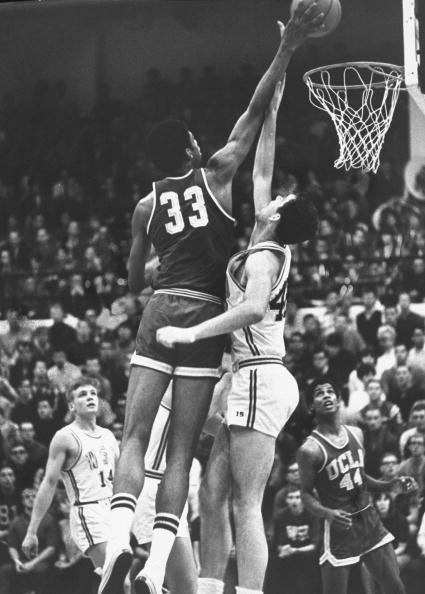 UCLA player Lewis Alcindor (CL) during game.  (Photo by Bill Ray/The LIFE Picture Collection/Getty Images)