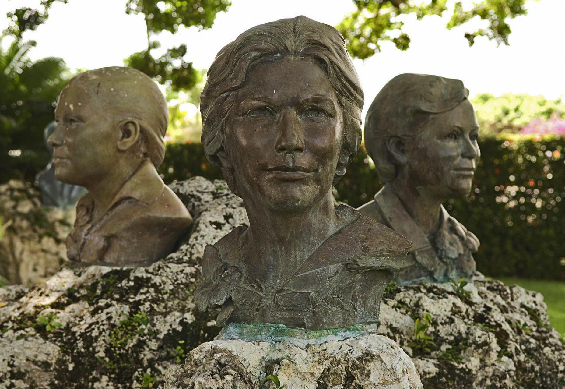 Busts of the Mirabal sisters at the museum in the village of Salcedo, north of Santo Domingo. The Mirabal sisters were assasinated in 1960 during the dictatorial regime of Rafael Trujillo.  (RICARDO HERNANDEZ--AFP/Getty Images)