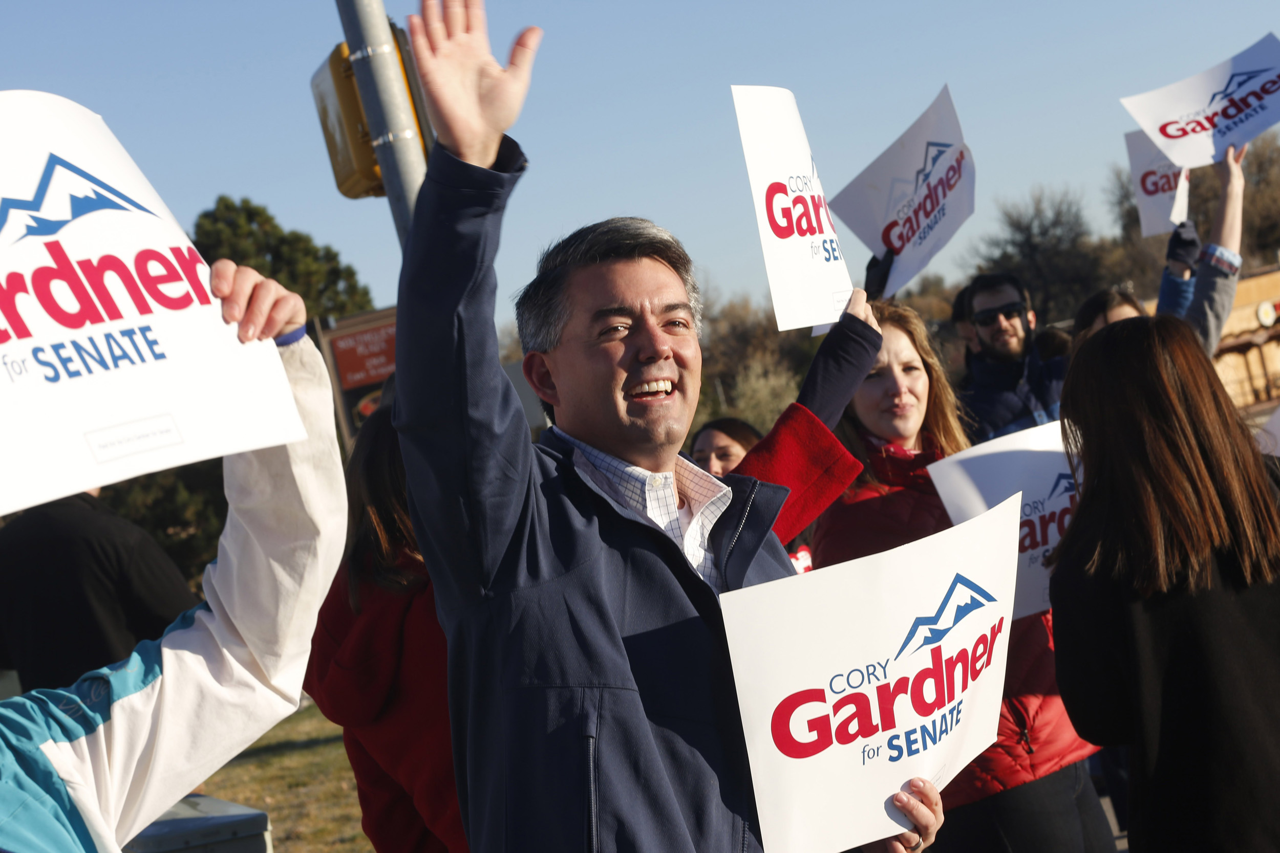 <b>Cory Gardner</b>                                   Gardner formerly served in the Colorado House of Representatives and U.S. House of Representatives. He beat incumbent Sen. Mark Udall.