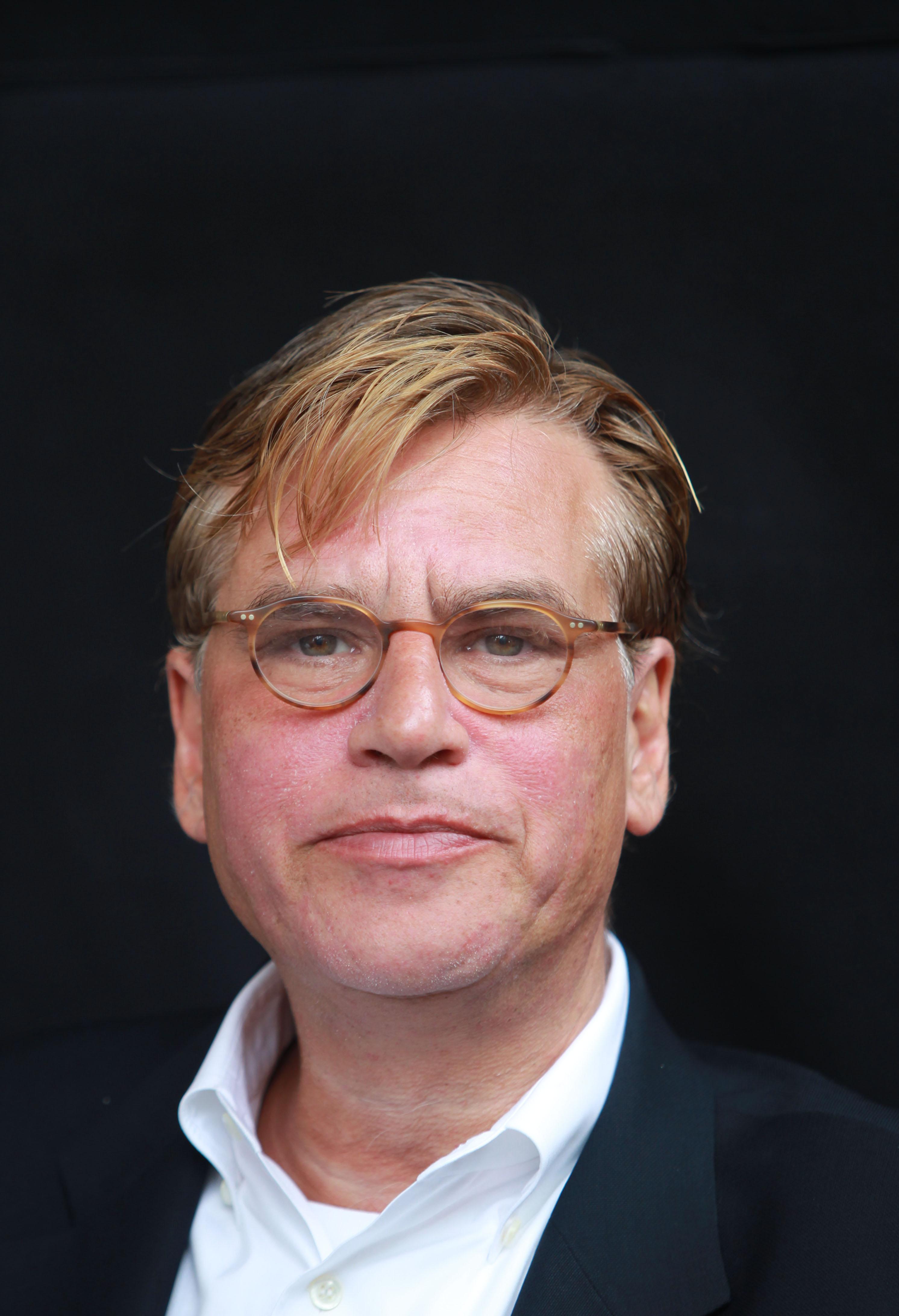 Aaron Sorkin filming  Newsroom  on July 20, 2014 in New York City.
