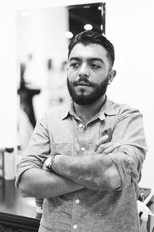 Alex Chavez, barber at Blind Barber Shop in Los Angeles.