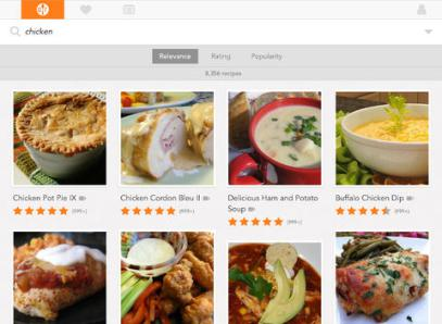 <strong>Allrecipes.</strong> Referencing an iPad while cooking is usually far less cumbersome than using a computer, and the free Allrecipes app puts thousands of recipes and step-by-step videos at your fingertips. You can even sync recipes and ingredients with your Allrecipes.com account's recipe box and shopping lists.