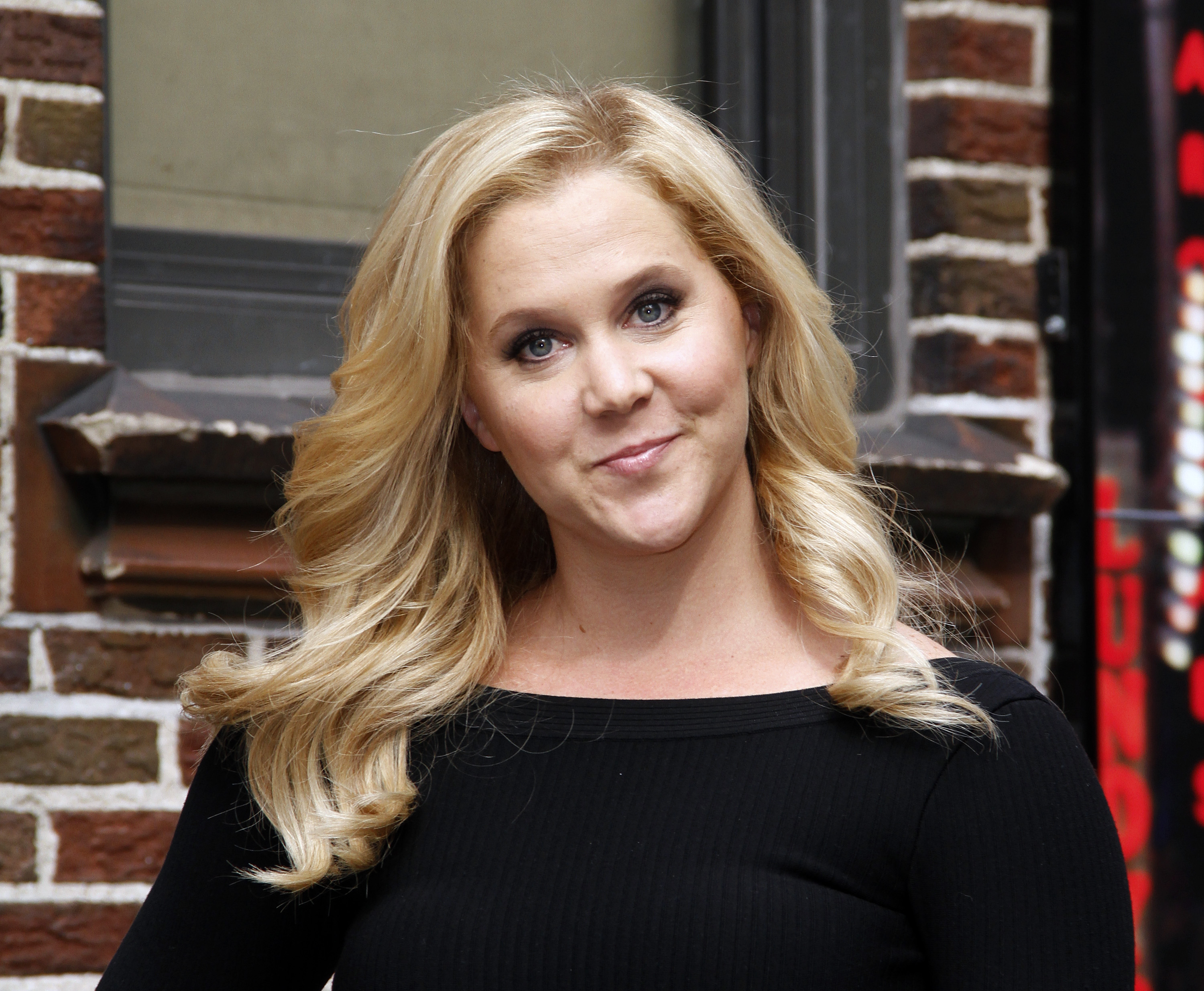 Amy Schumer arrives for the  Late Show with David Letterman  at Ed Sullivan Theater on April 1, 2014 in New York City.