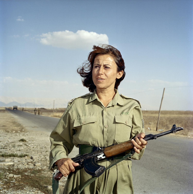 Interview with photographer Anastasia Taylor-Lind on the TED blogGashaw Jaffar, a Peshmerga soldier, guards a checkpoint at the Farmanday Peshmerga base outside Sulaimaniyah, Kurdistan, Iraq. Sept. 2003.