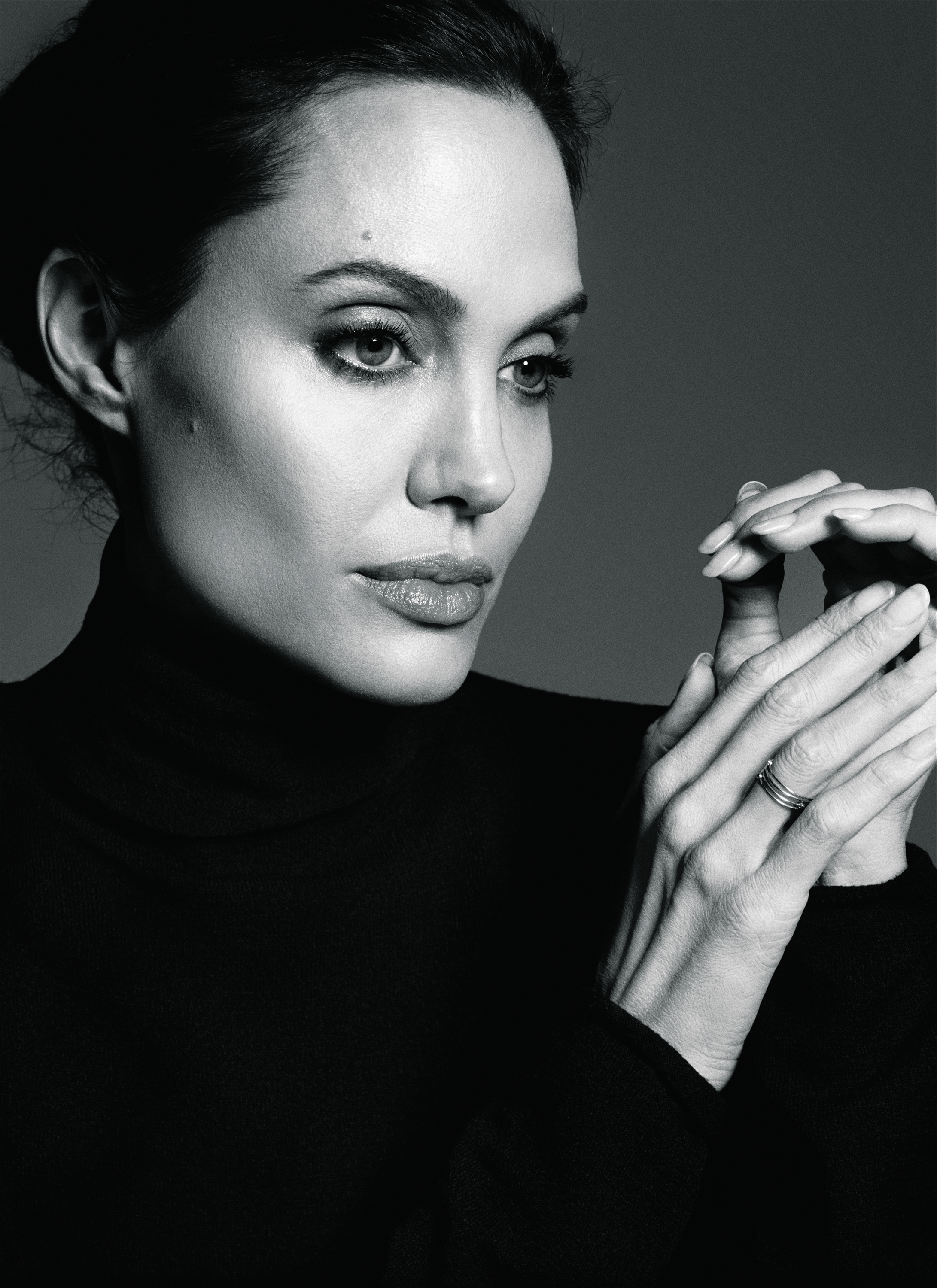 The biggest star in her own movie. Angelina Jolie, photographed in Los Angeles. Unbroken is the second film she has directed.