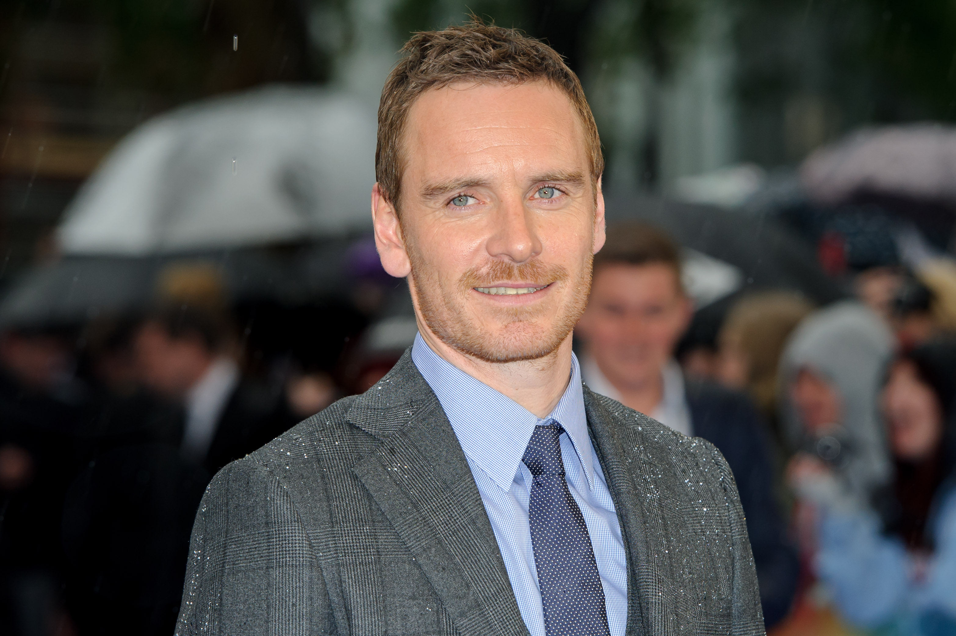 Michael Fassbender arrives for the UK Premiere of X-Men Days Of Future Past at a central London cinema, Monday, May 12, 2014. (Photo by Jonathan Short/Invision/AP)