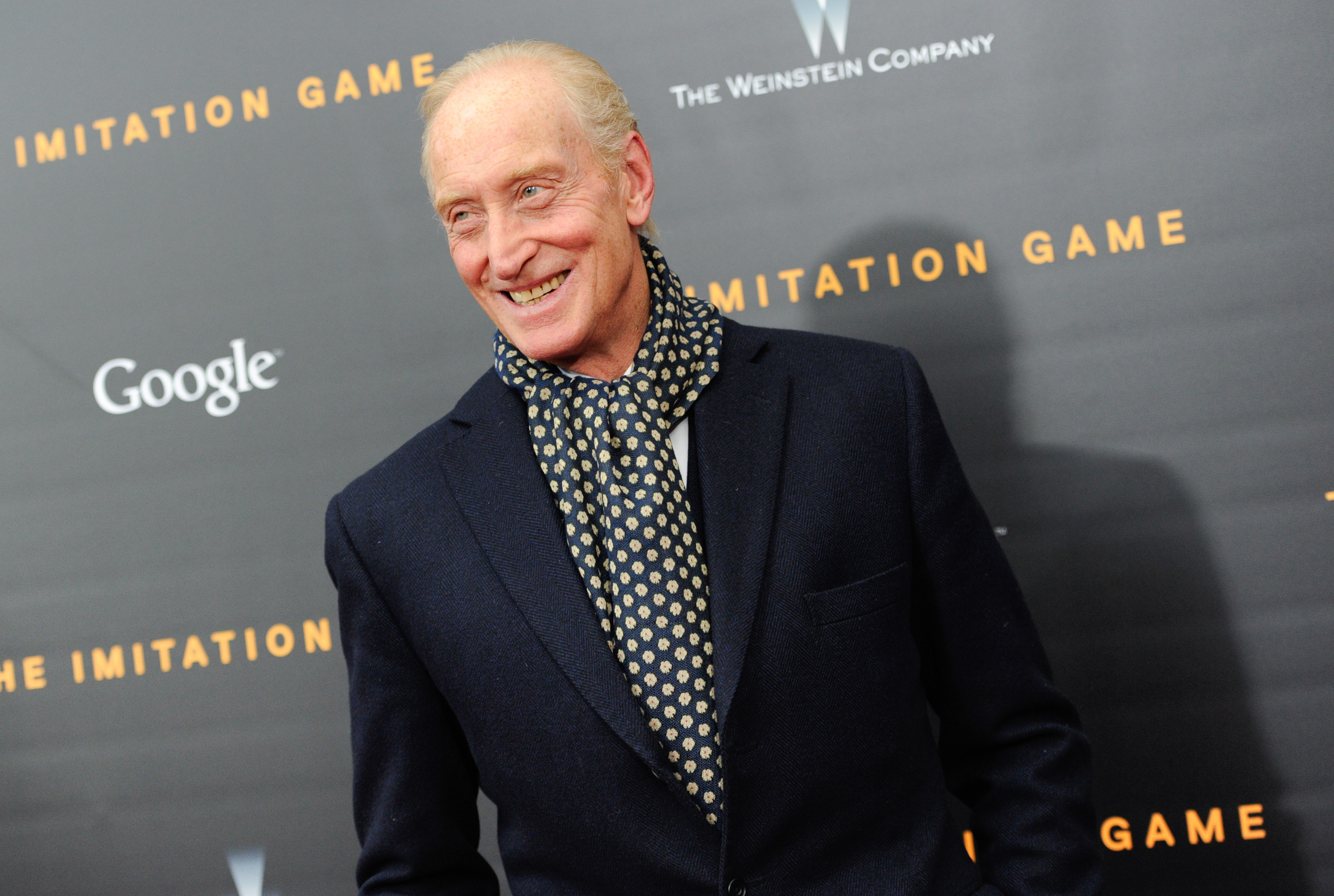 Actor Charles Dance attends the premiere of  The Imitation Game  at Ziegfeld Theatre on Monday, Nov. 17, 2014, in New York. (Photo by Evan Agostini/Invision/AP)