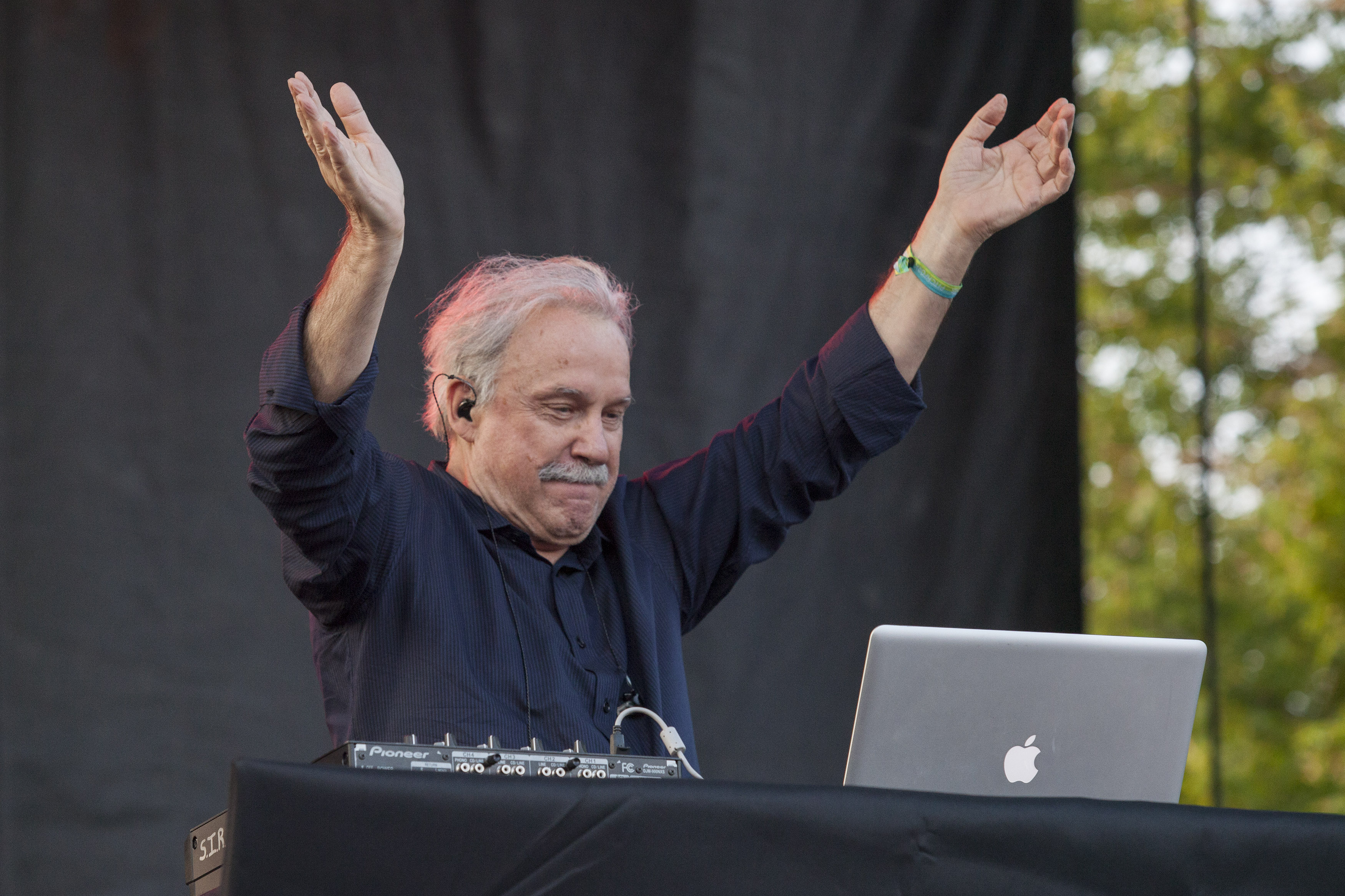 Giorgio Moroder seen at the 2014 Pitchfork Music Festival, on Friday, June 18, 2014 in Chicago. (Photo by Barry Brecheisen/Invision/AP)