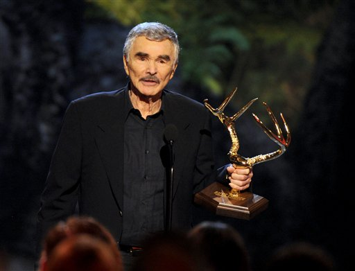 Burt Reynolds accepts the alpha male award at Spike TV's Guys Choice Awards at Sony Pictures Studios on Saturday, June 8, 2013, in Culver City, Calif.