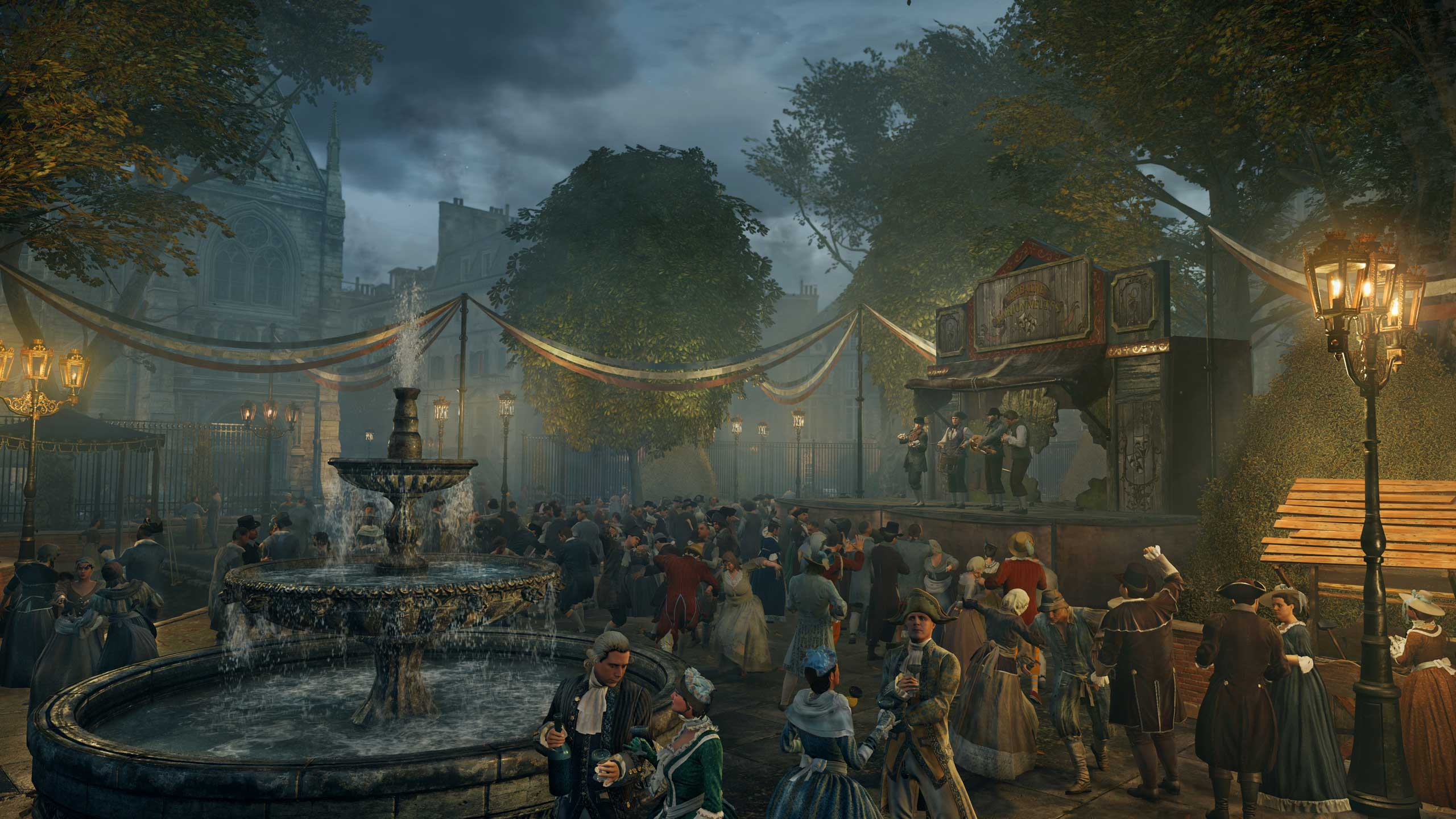 Assassin's Creed Unity. Ubisoft says it  basically remade the whole rendering engine  in its AnvilNext design tool to handle the studio's meticulous recreation of Paris during the French Revolution.