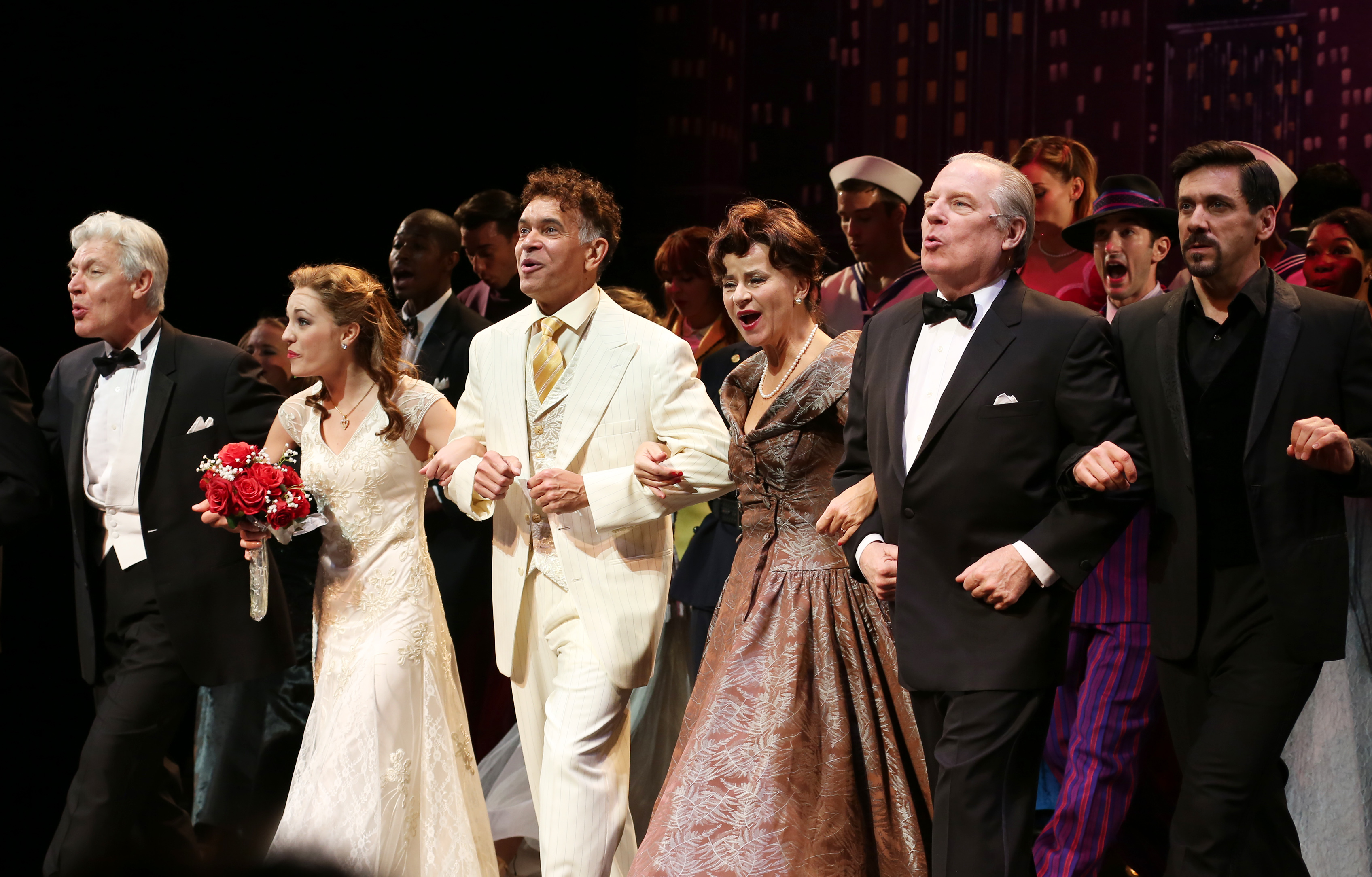 The cast  of 'The Band Wagon' during the Curtain Call on Nov. 9, 2014 in New York City.