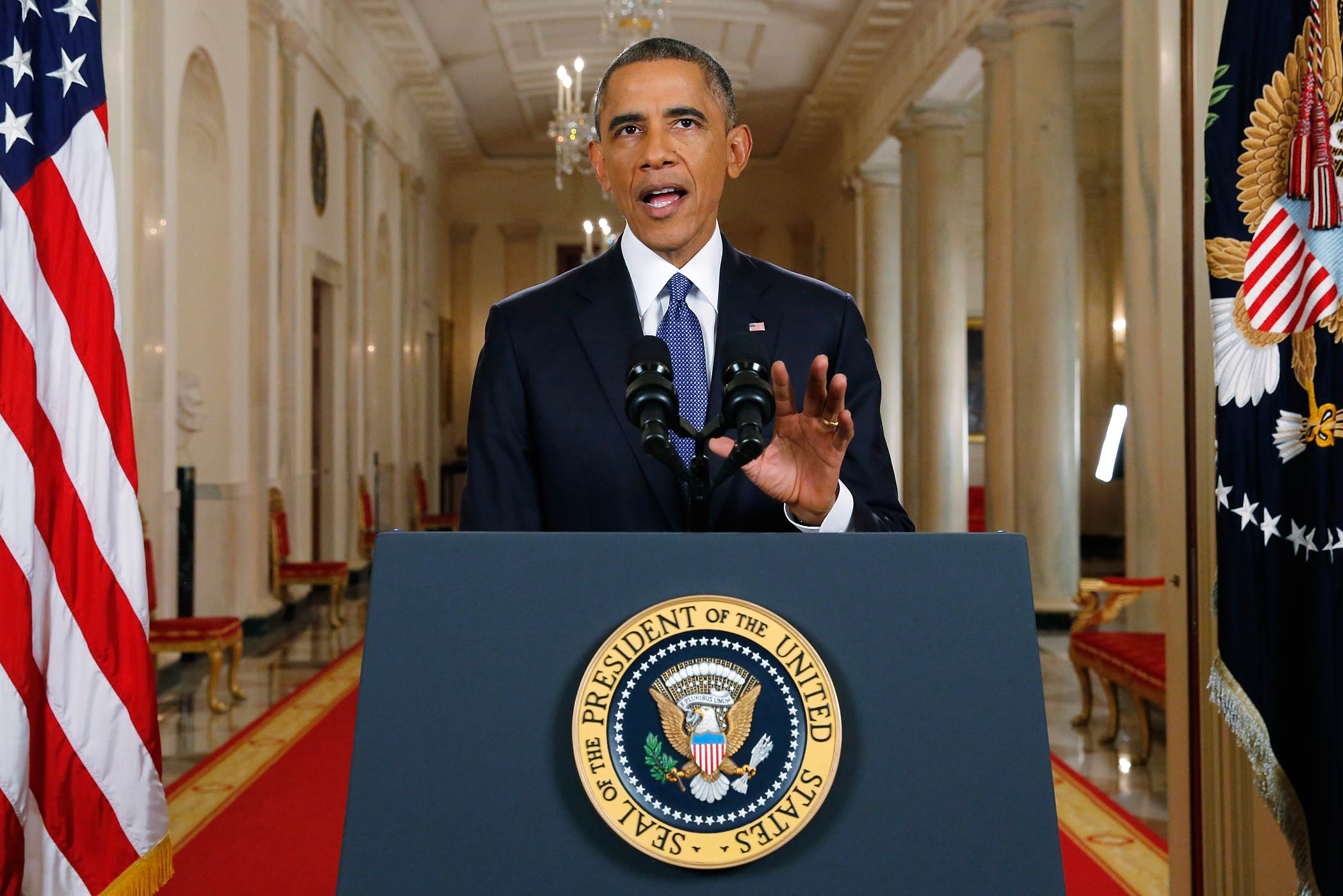 President Barack Obama announces executive actions on immigration during a nationally televised address from the White House in Washington, Thursday, Nov. 20, 2014.