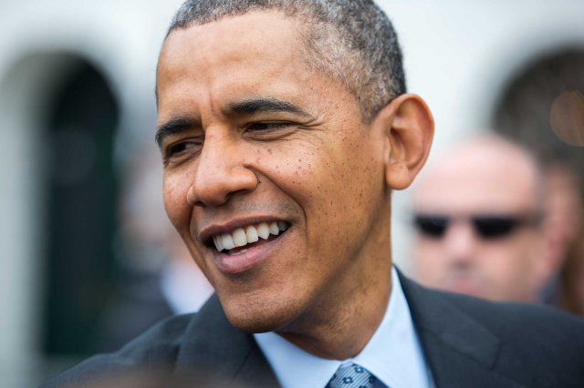 U.S. President Barack Obama on the South Lawn of the White House in Washington, D.C., on Apr. 24, 2014.