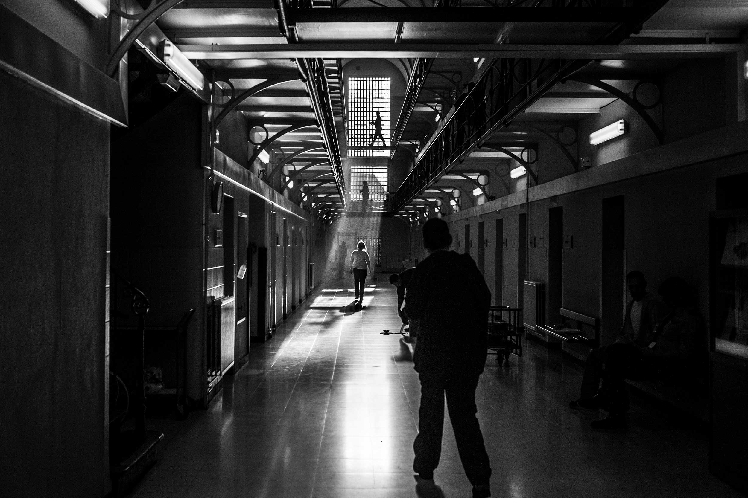 View of a wing inside the prison of Ghent, Belgium, December 2013.
