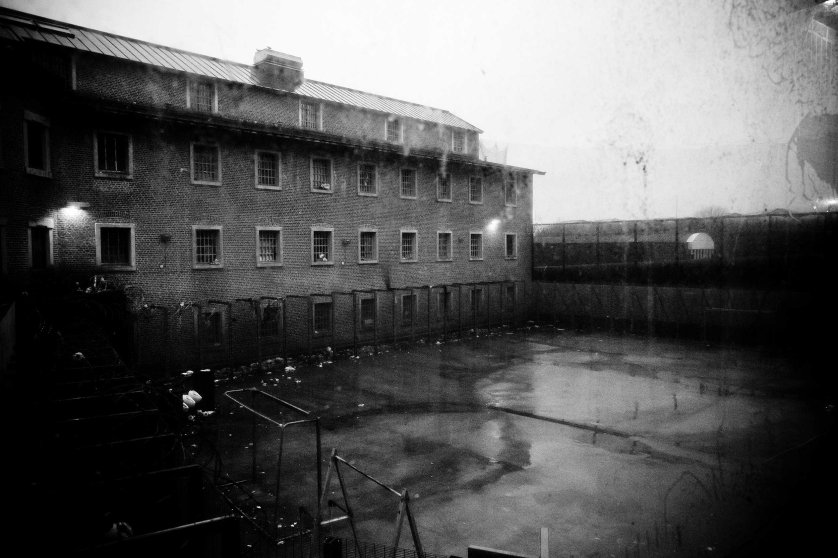 View of the courtyard of the Nivelles Prisons, in Belgium January 2011