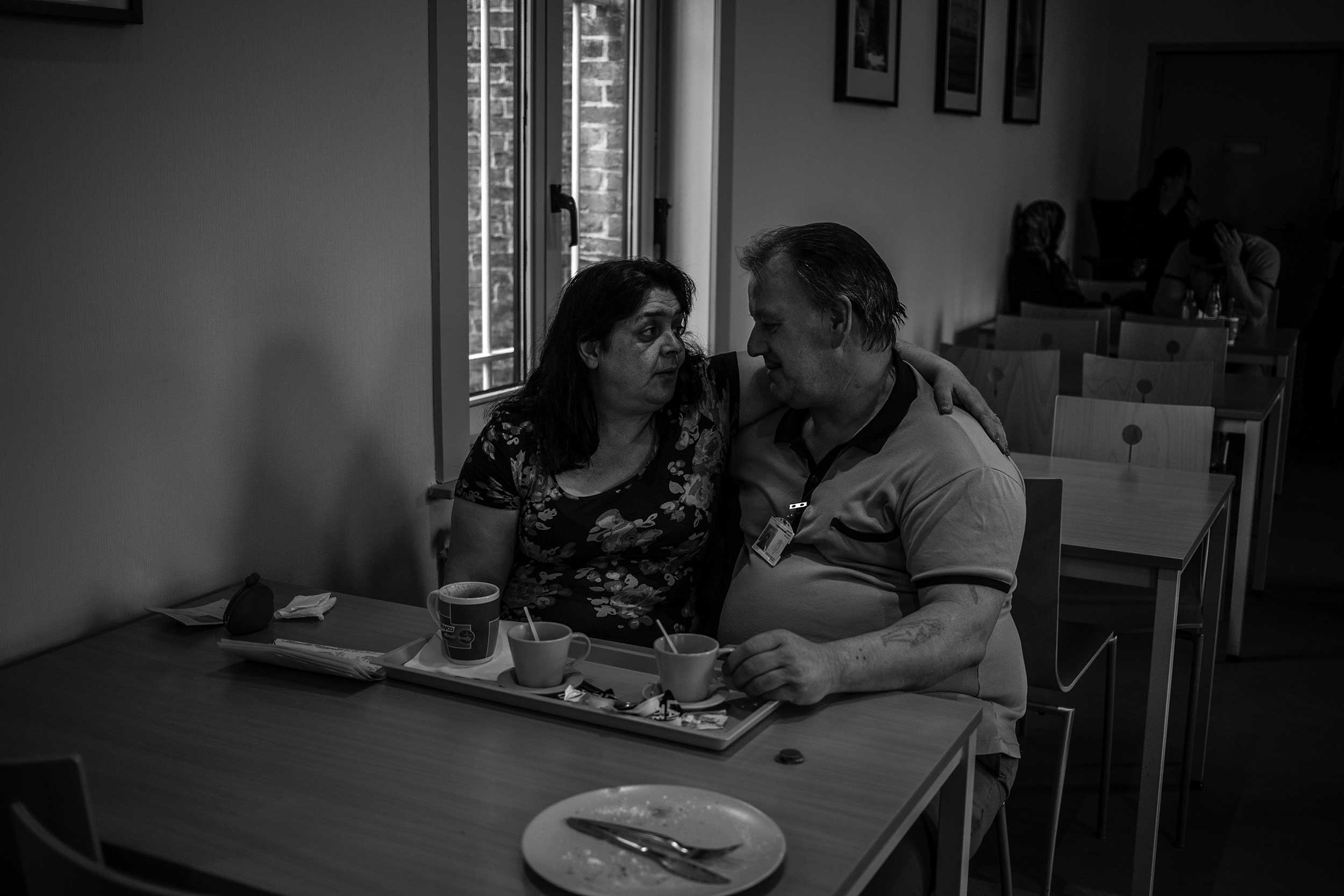 Visits are private and important moments of joy for inmates. Prison of Leuven, Belgium. May 2014.