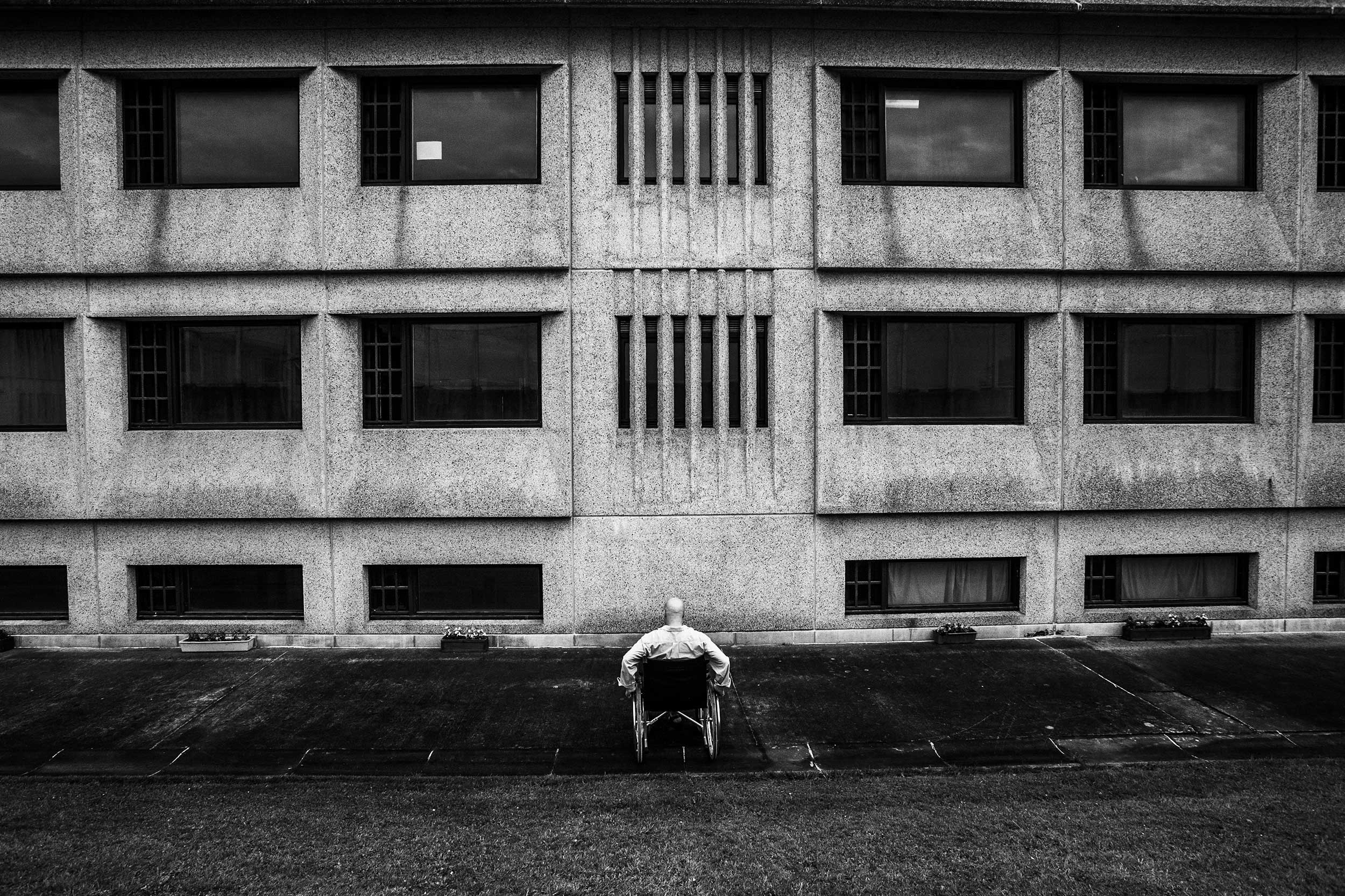 A patient in Paifve, Liège, Belgium. Due to their mental illnesses, prisoners in Paifve are called patients. July 2011.