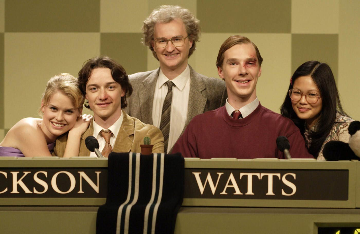 <strong>Starter for 10</strong> This 2006 British comedy had Cumberbatch (second from right) take on the role of Patrick Watts, the smug team captain for a British game show called University Challenge.