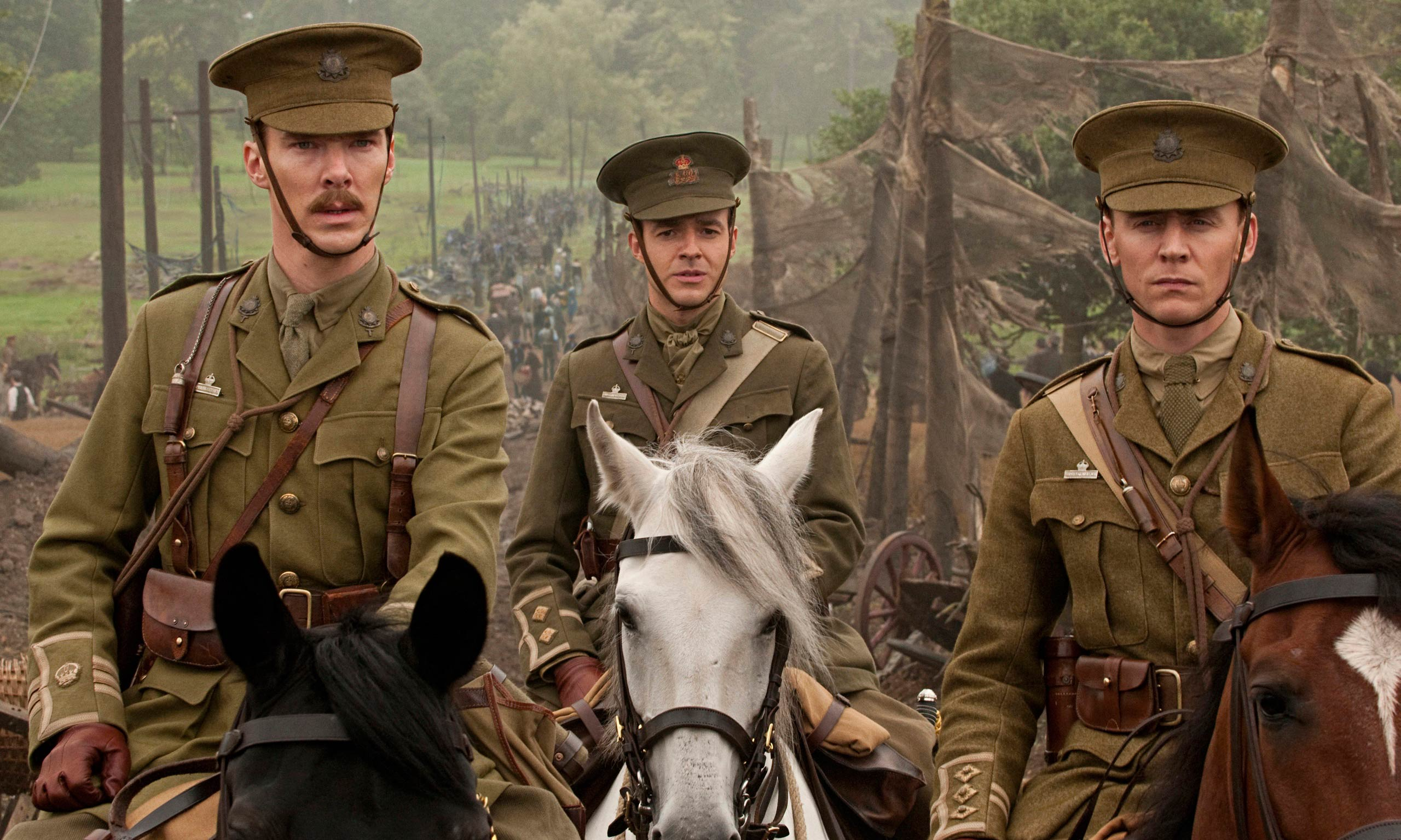 <strong>War Horse</strong> Cumberbatch (left) takes on the role of Major Jamie Stewart, the leader of a cavalry company in World War I in this 2011 war drama by Spielberg.