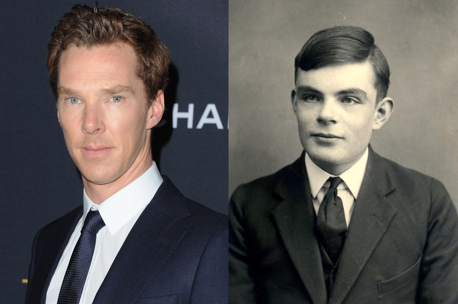 Benedict Cumberbatch and Alan Turing.