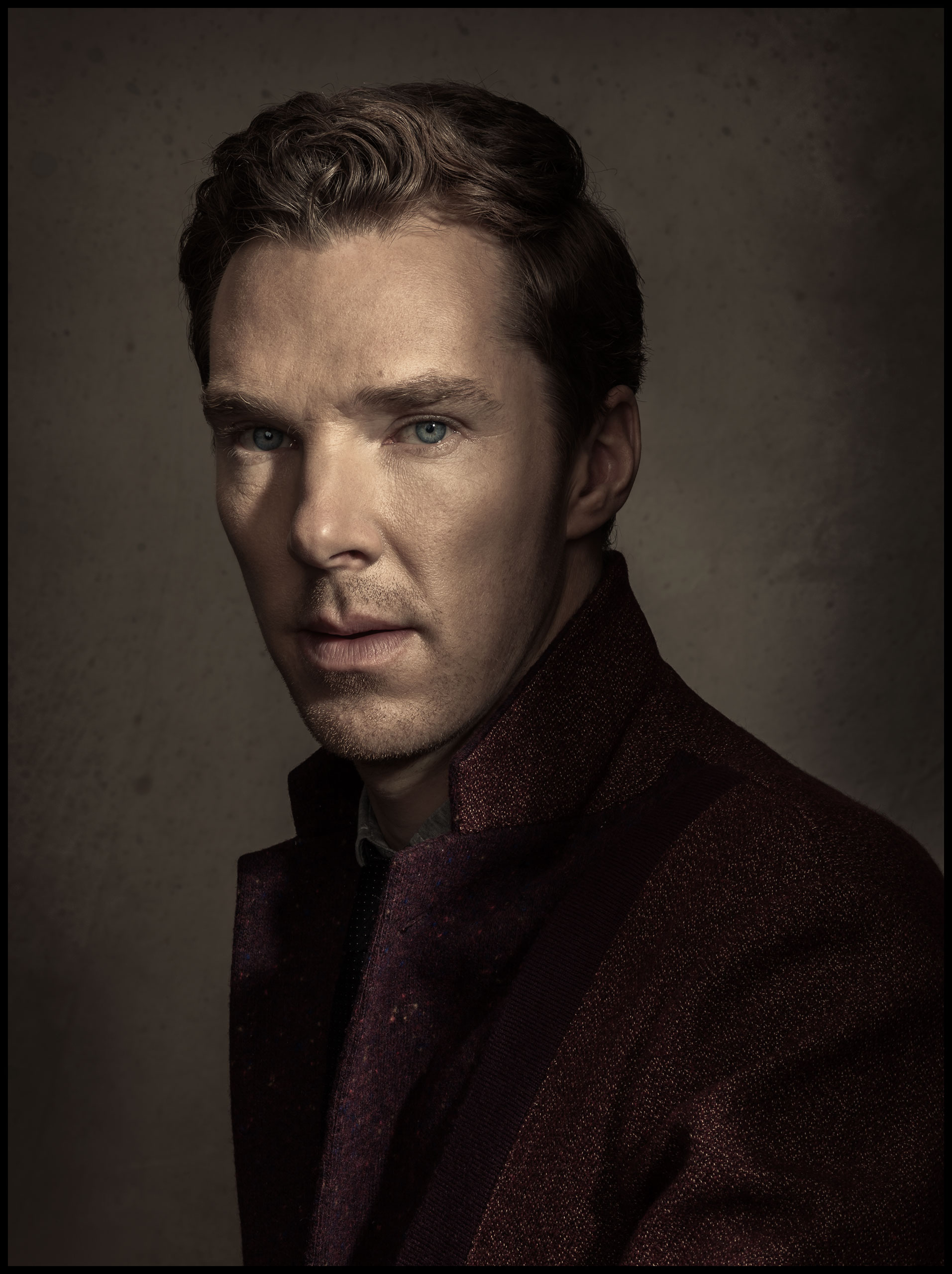 Portrait of actor Benedict Cumberbatch photographed in California on November 9, 2014.