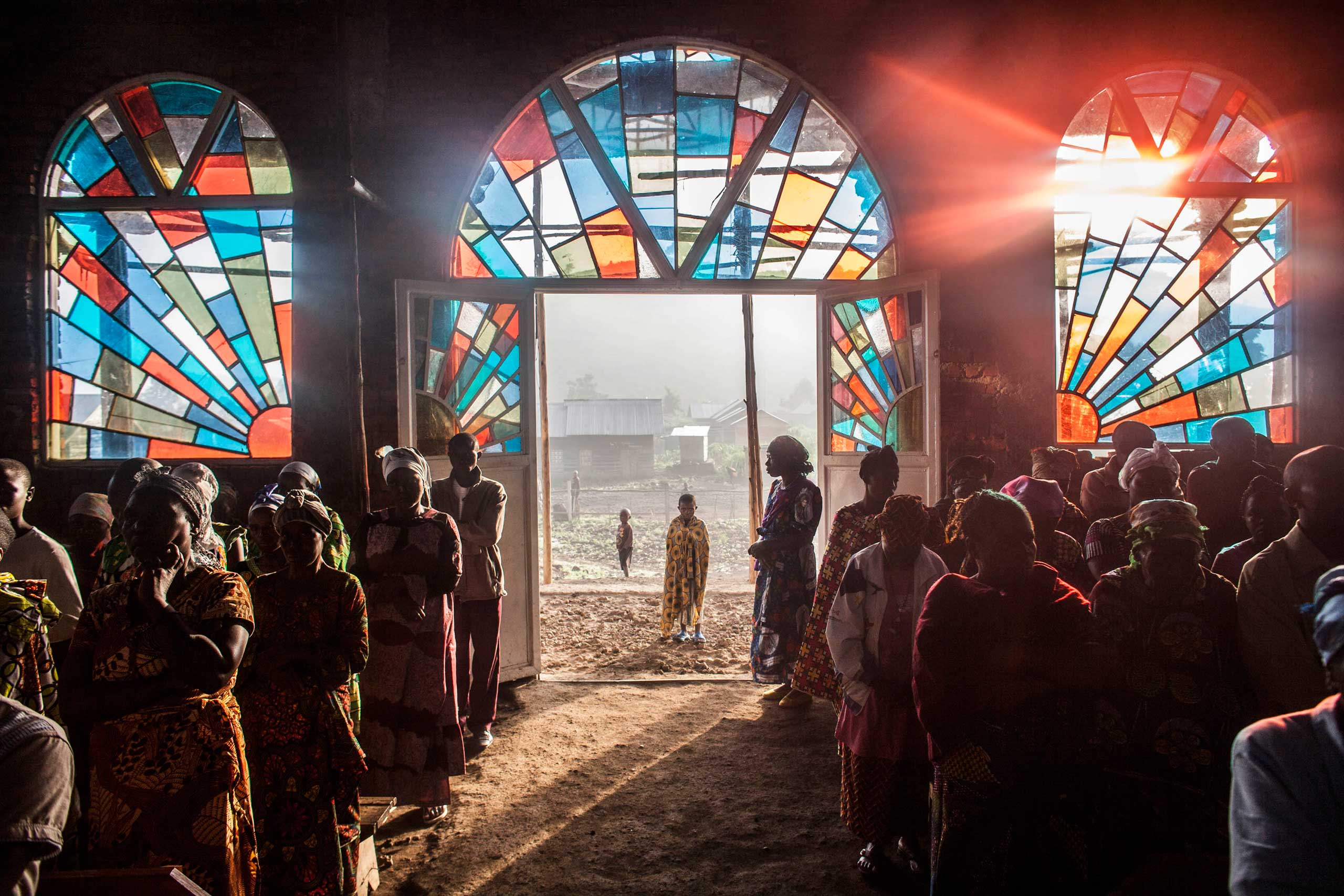 People attend a Sunday church service in the village of Kitshanga, in Masisi territory, Democratic Republic of Congo, March 9, 2014.
