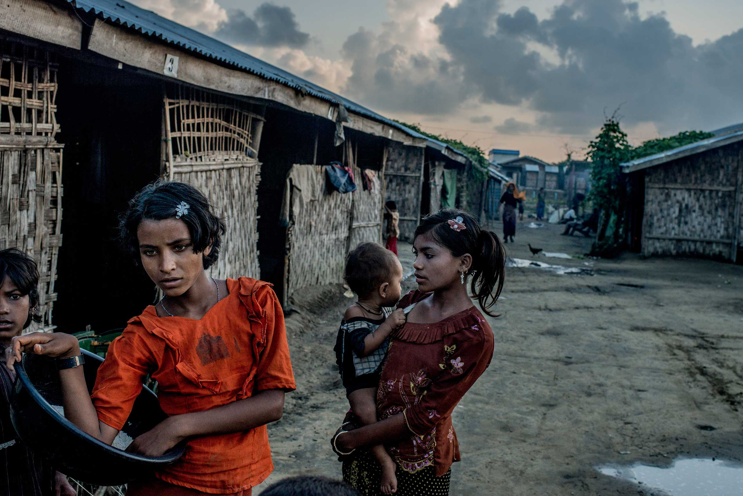A camp full of Rohingya refugees on the edge of Sittwe, Burma, Oct. 18, 2014.