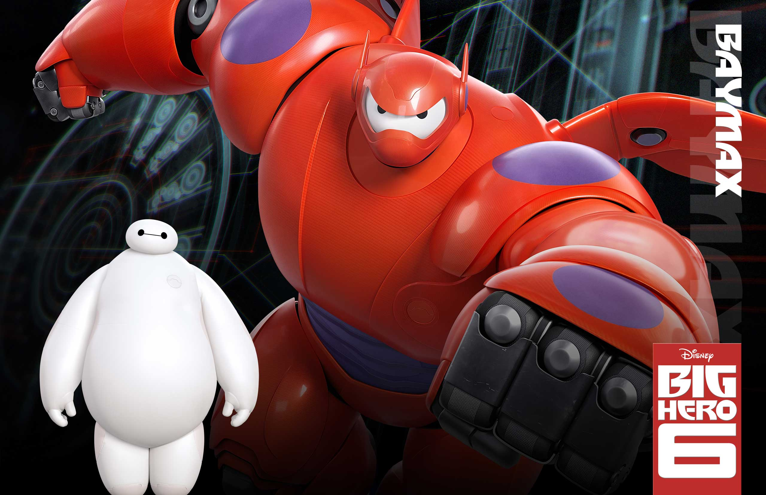 Baymax, voiced by 30 Rock alum Scott Adsit, is a friendly, giant, inflatable robot who was created as a medical companion to treat ailments, but gets upgraded with armor and weapons to fight crime.
