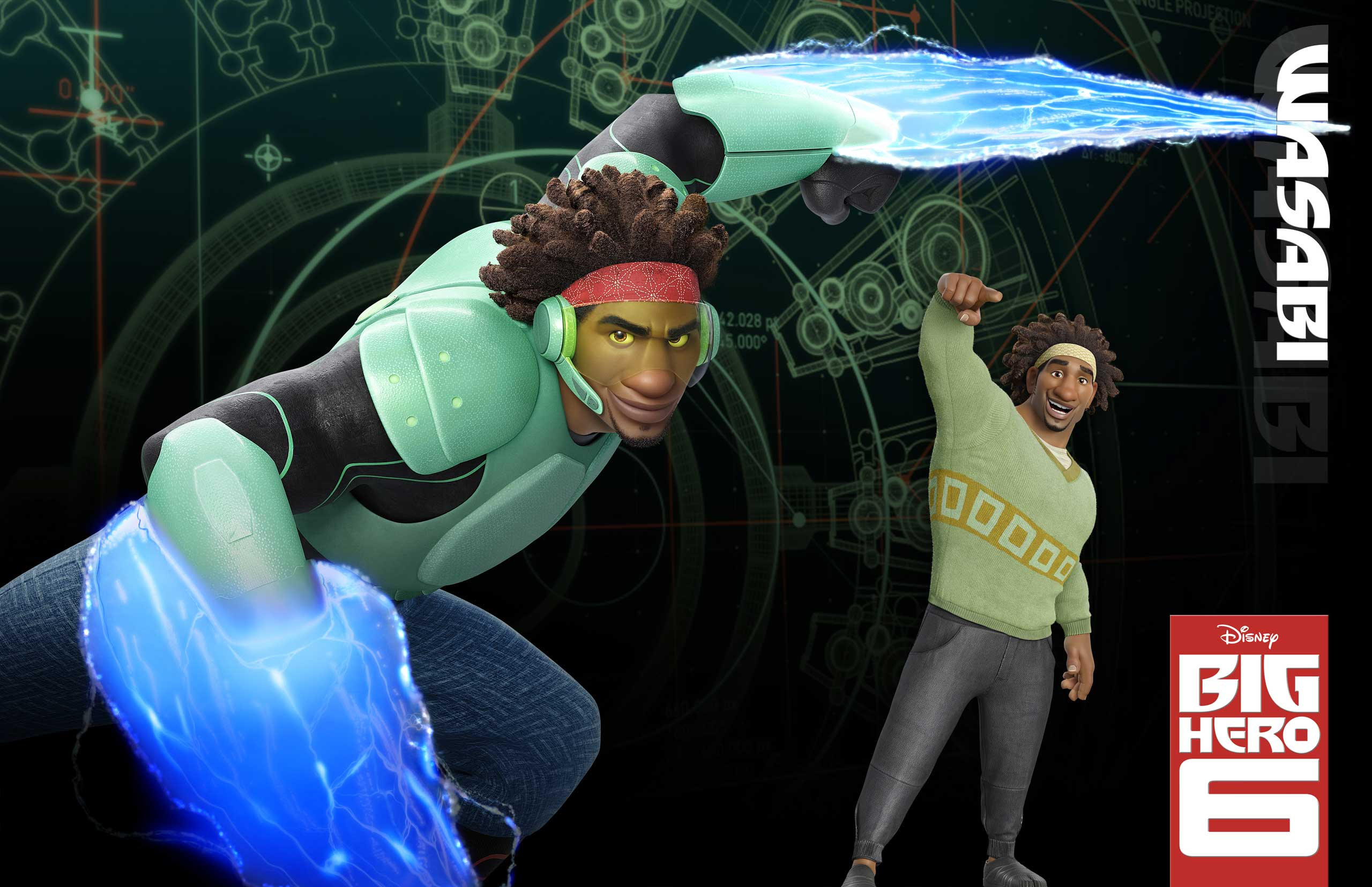 Wasabi, voiced by Damon Wayans, Jr., is a slightly neurotic neat-freak who uses a pair of plasma laser blades to slice up opponents.