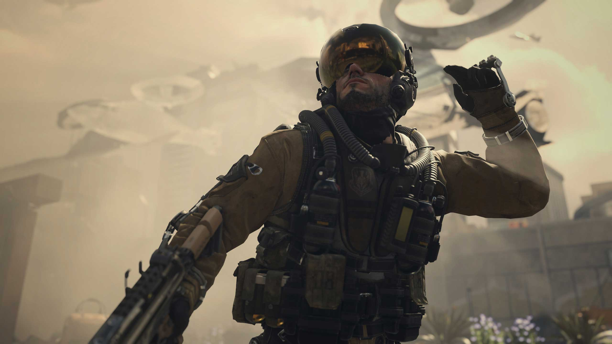 Call of Duty: Advanced Warfare. Activision's futuristic first-person shooter in which players take on a rogue private military company uses a brand new engine built specifically for PCs and new-gen consoles to handle its cutting-edge lighting, animation and physics.