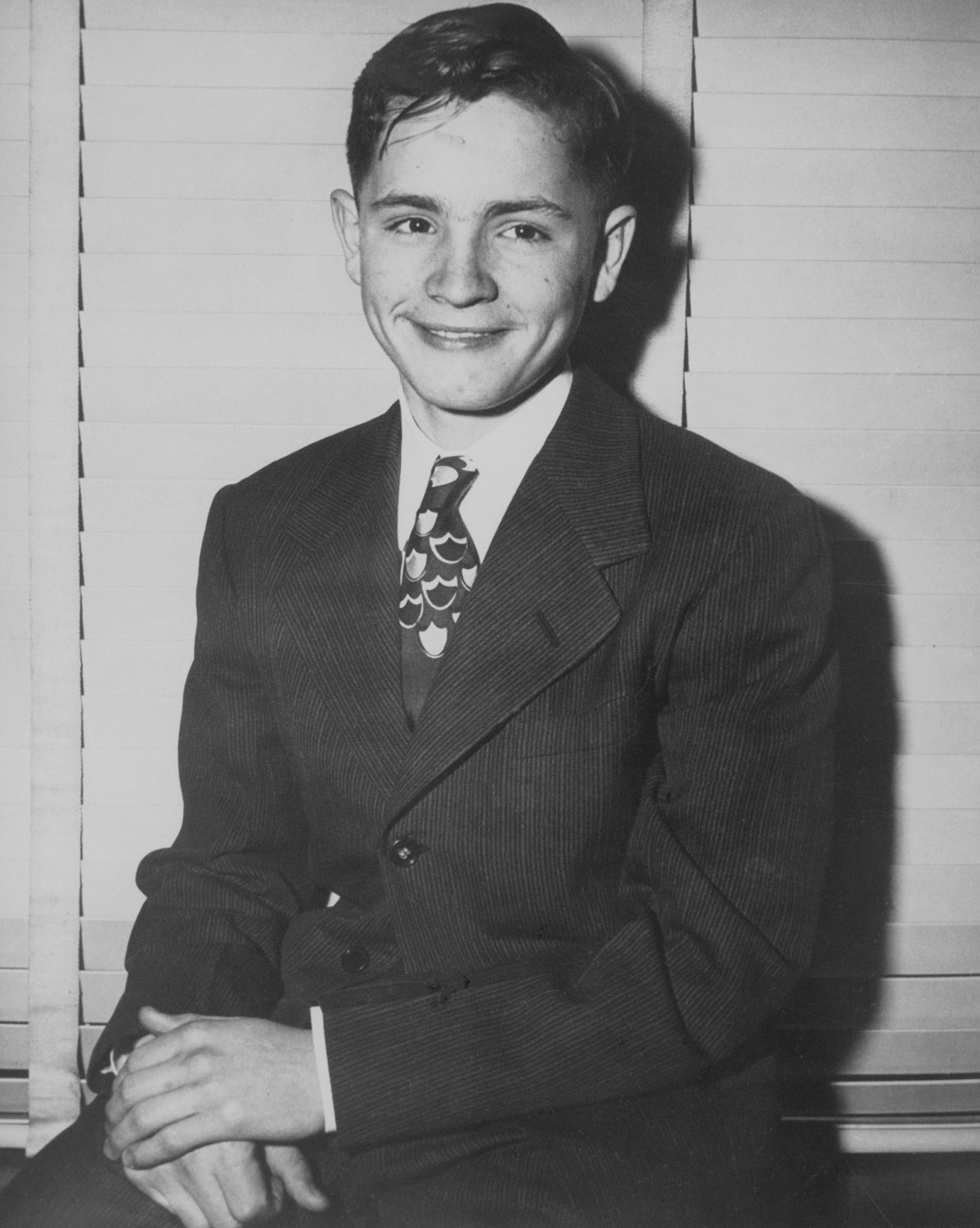 Charles Manson at age 13, three days before he ran away from Boy's Town in Omaha in 1947.