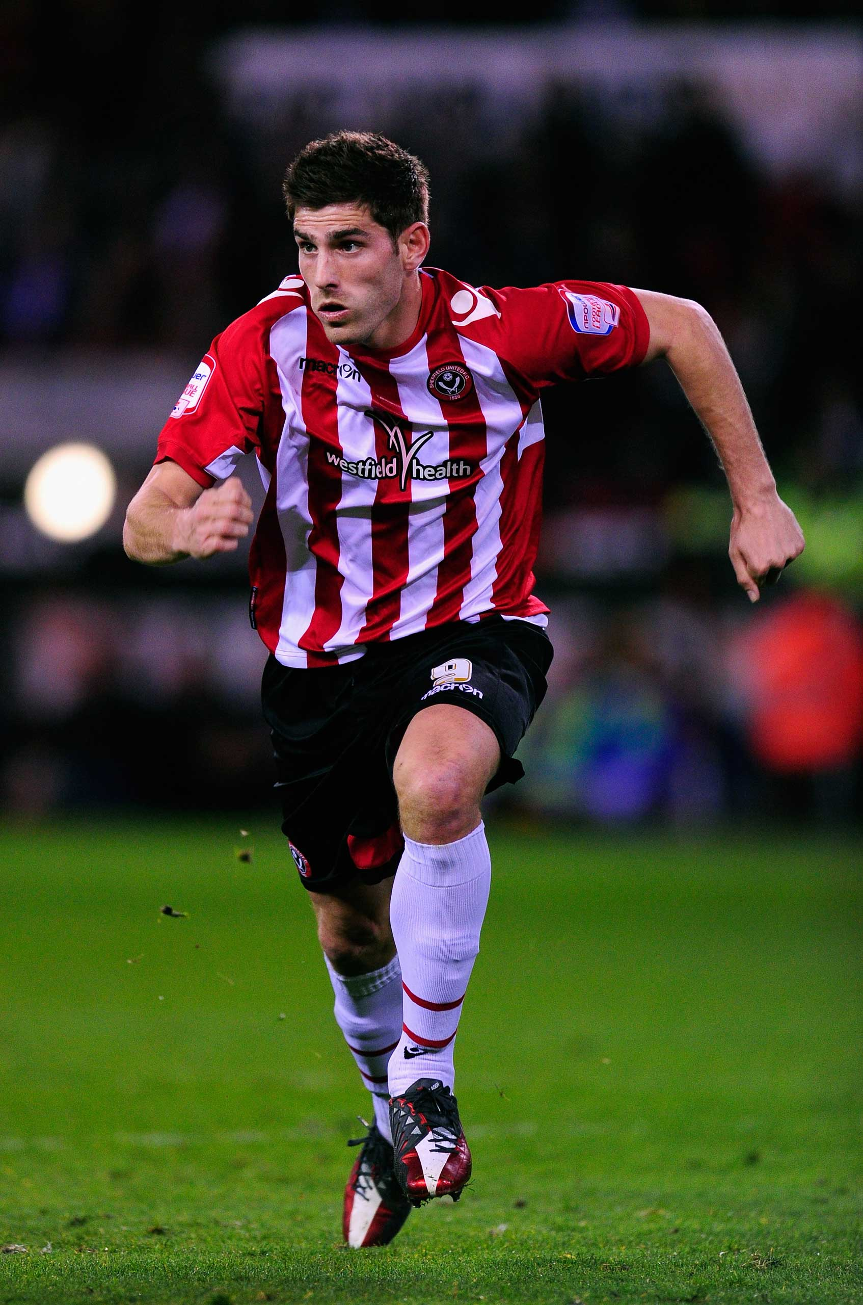 Ched Evans playing for Sheffield United in 2012.