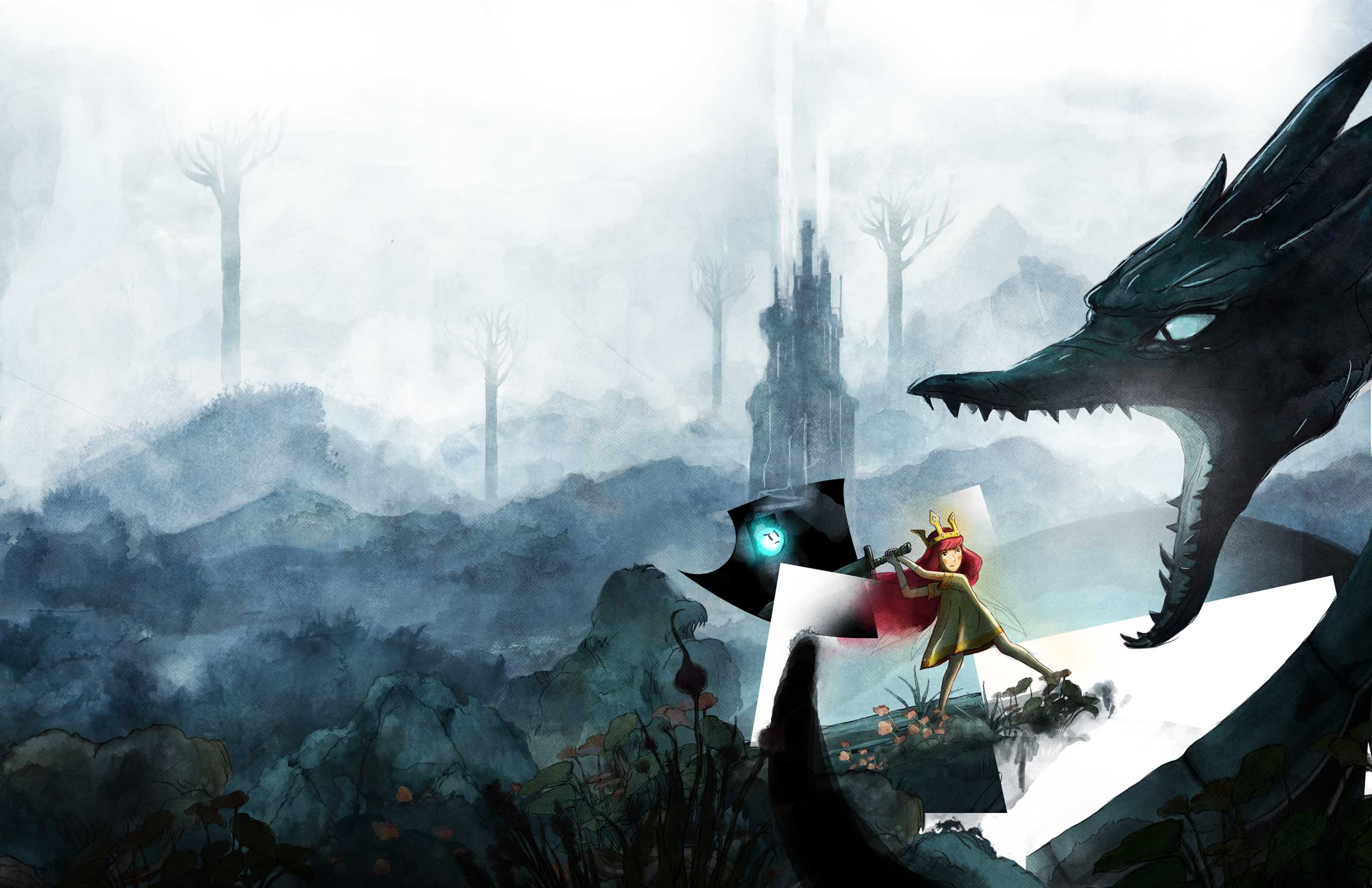 <strong>Child of Light</strong>                                                                      Inspired by filmmakers like Hayao Miyazaki and artist Yoshitaka Amano, <i>Child of Light</i>'s hand-drawn artwork puts the lie to presumptions that graphical richness depends on shader support or polygon counts.