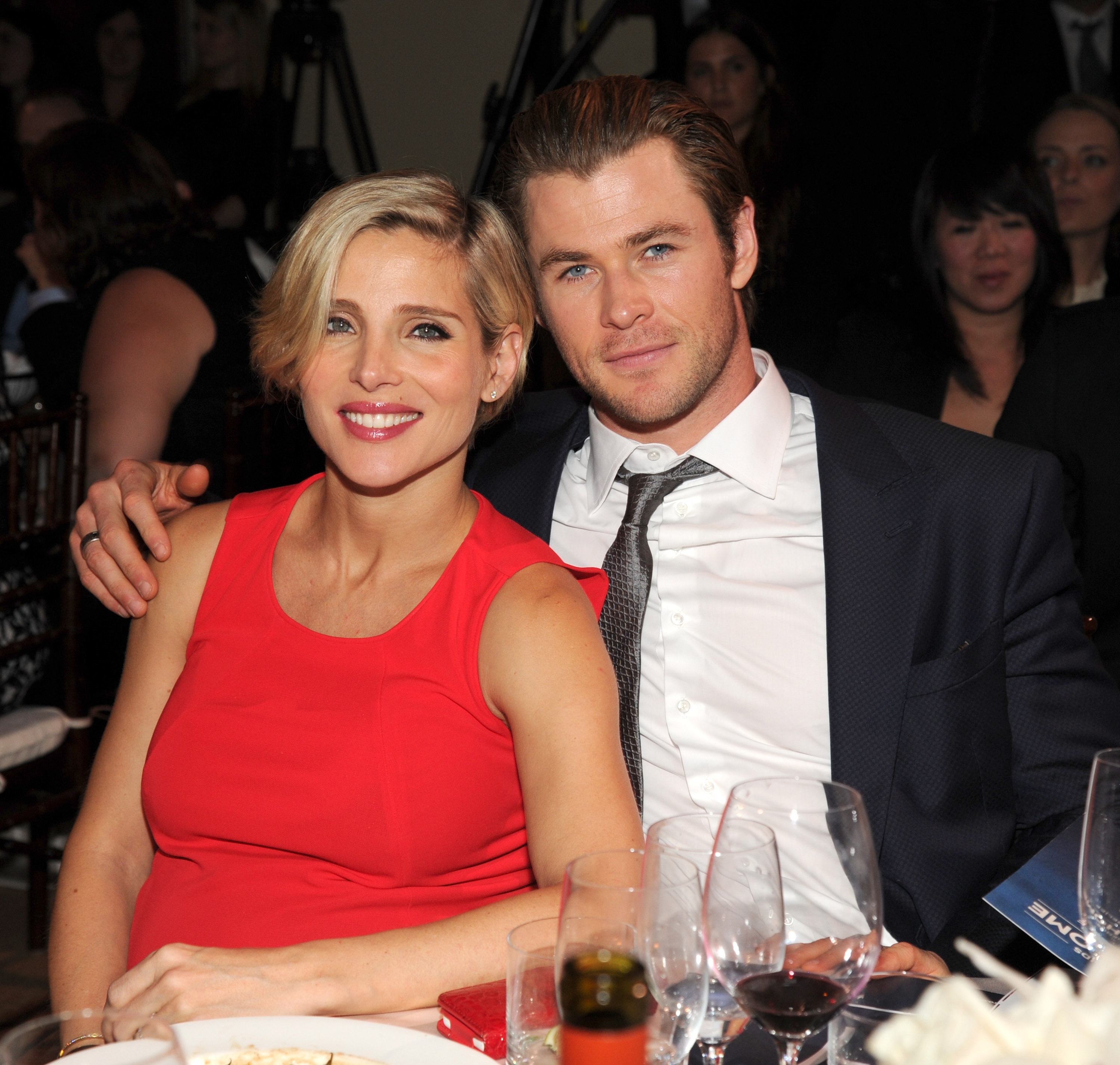 Chris Hemsworth and Elsa Pataky attend the 3rd annual Sean Penn and Friends HELP HAITI HOME Gala benefiting presented by Giorgio Armani at Montage Beverly Hills on Jan. 11, 2014 in Beverly Hills.