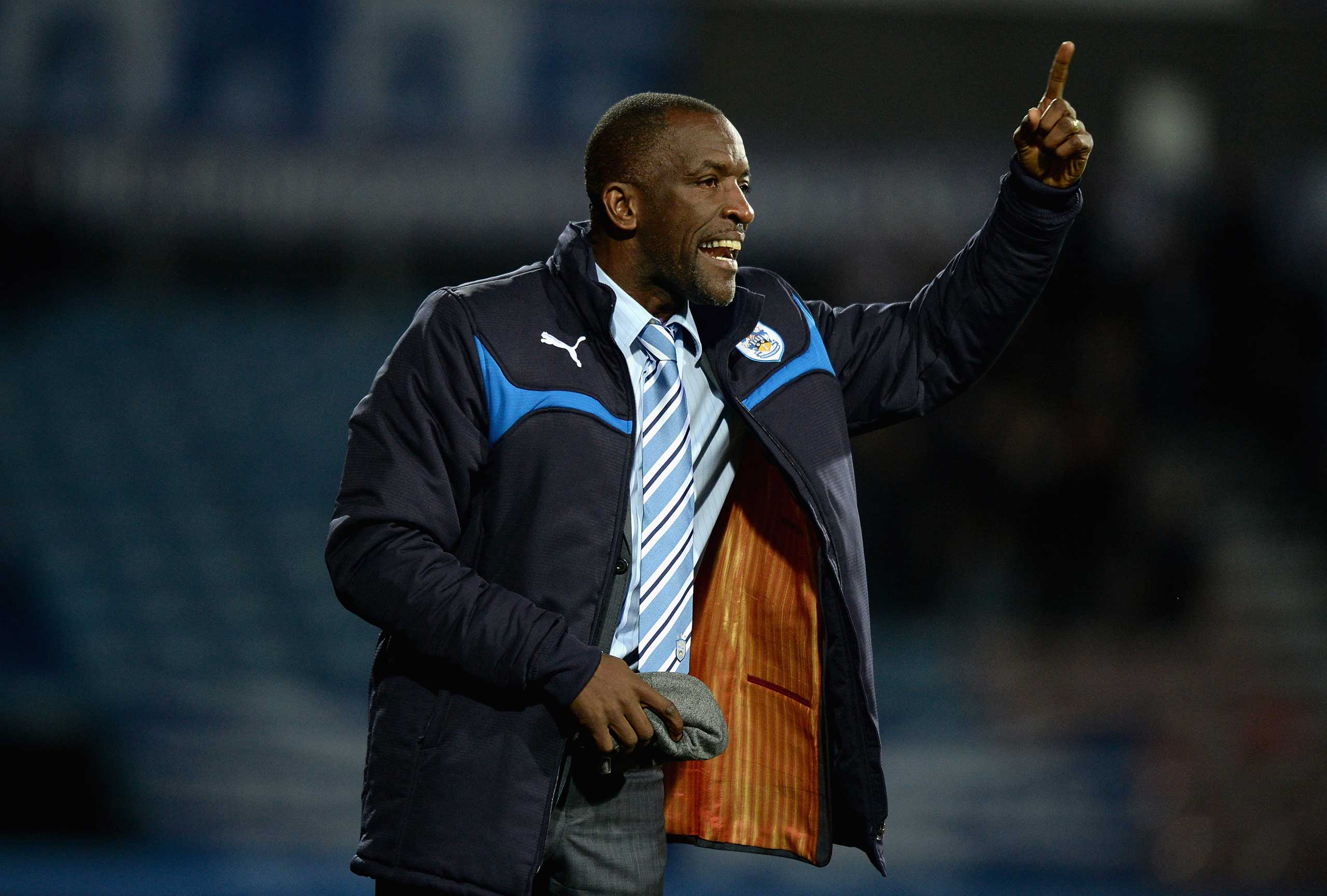 Manager Chris Powell during a Huddersfield Town home game on Oct. 21, 2014 in Huddersfield, England.