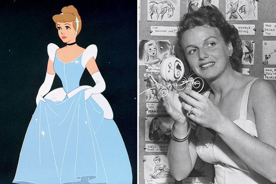 "<strong>Cinderella: Ilene Woods</strong> Ilene Woods lucked into the role of Cinderella by singing ""Bibbidi-Bobbidi-Boo,"" ""A Dream Is a Wish Your Heart Makes,"" and ""So This Is Love"" for her songwriter friends Mack David and Jerry Livingston. Walt Disney heard her recordings and hired her to be the voice of Cinderella. Woods would be honored as a part of the Disney Legends in 2003."