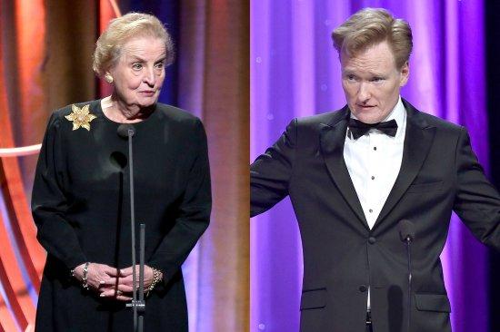 Conan O'Brien Madeline Albright