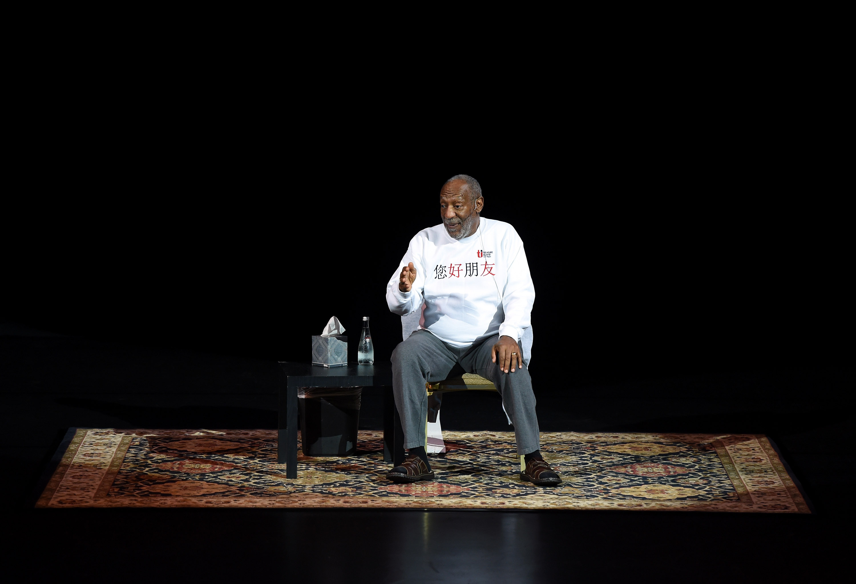 Comedian/actor Bill Cosby performs at the Treasure Island Hotel & Casino on Sept. 26, 2014 in Las Vegas, Nevada.