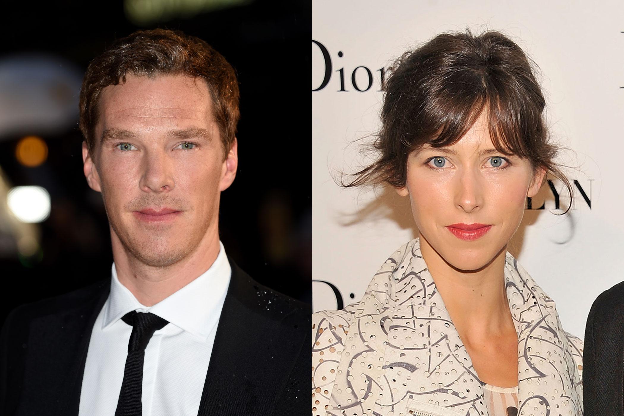 Benedict Cumberbatch and fiancée Sophie Hunter