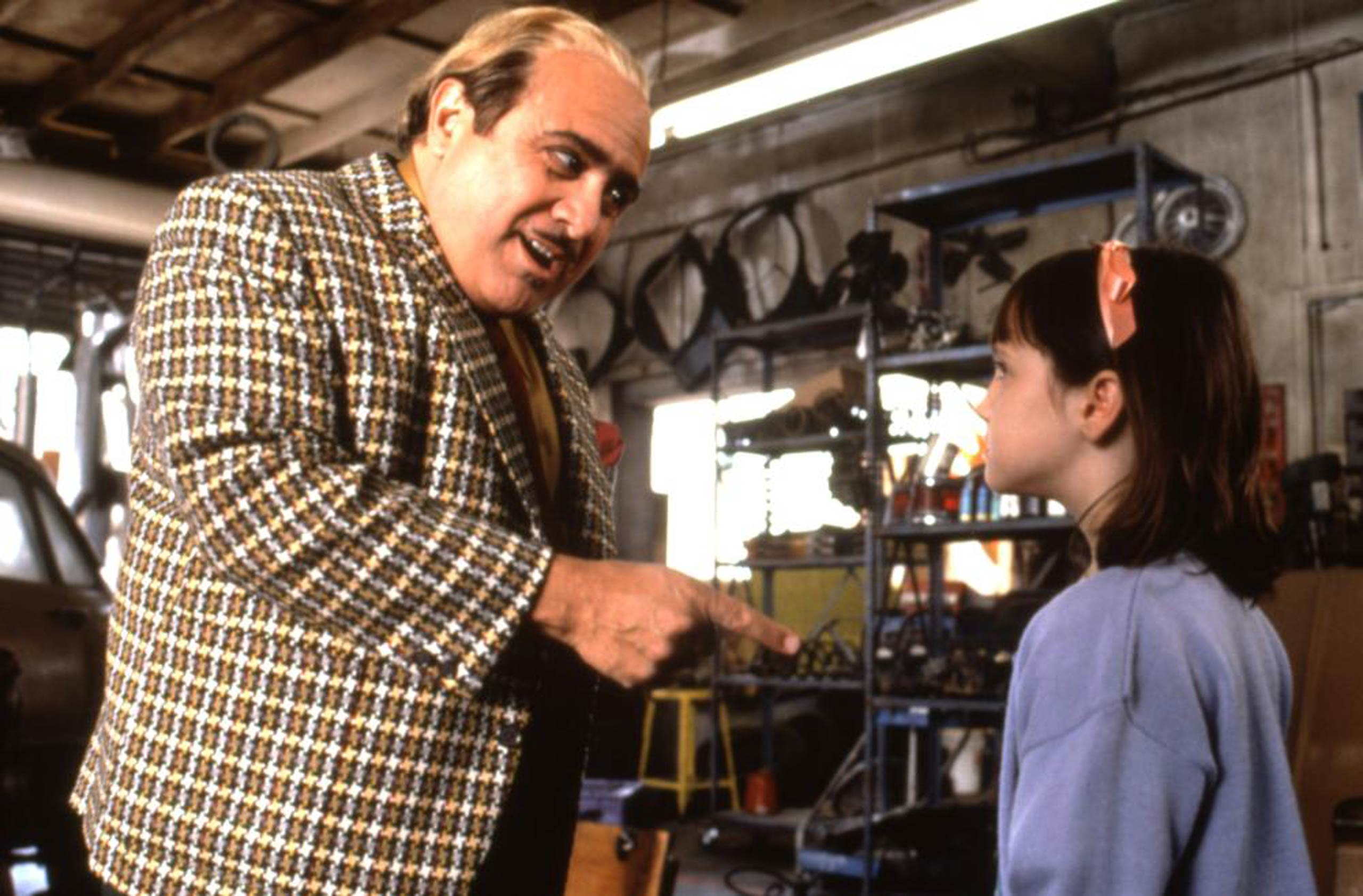 DeVito did double-duty on Matilda (1996), both playing the father of the titular character and handling directing duties.