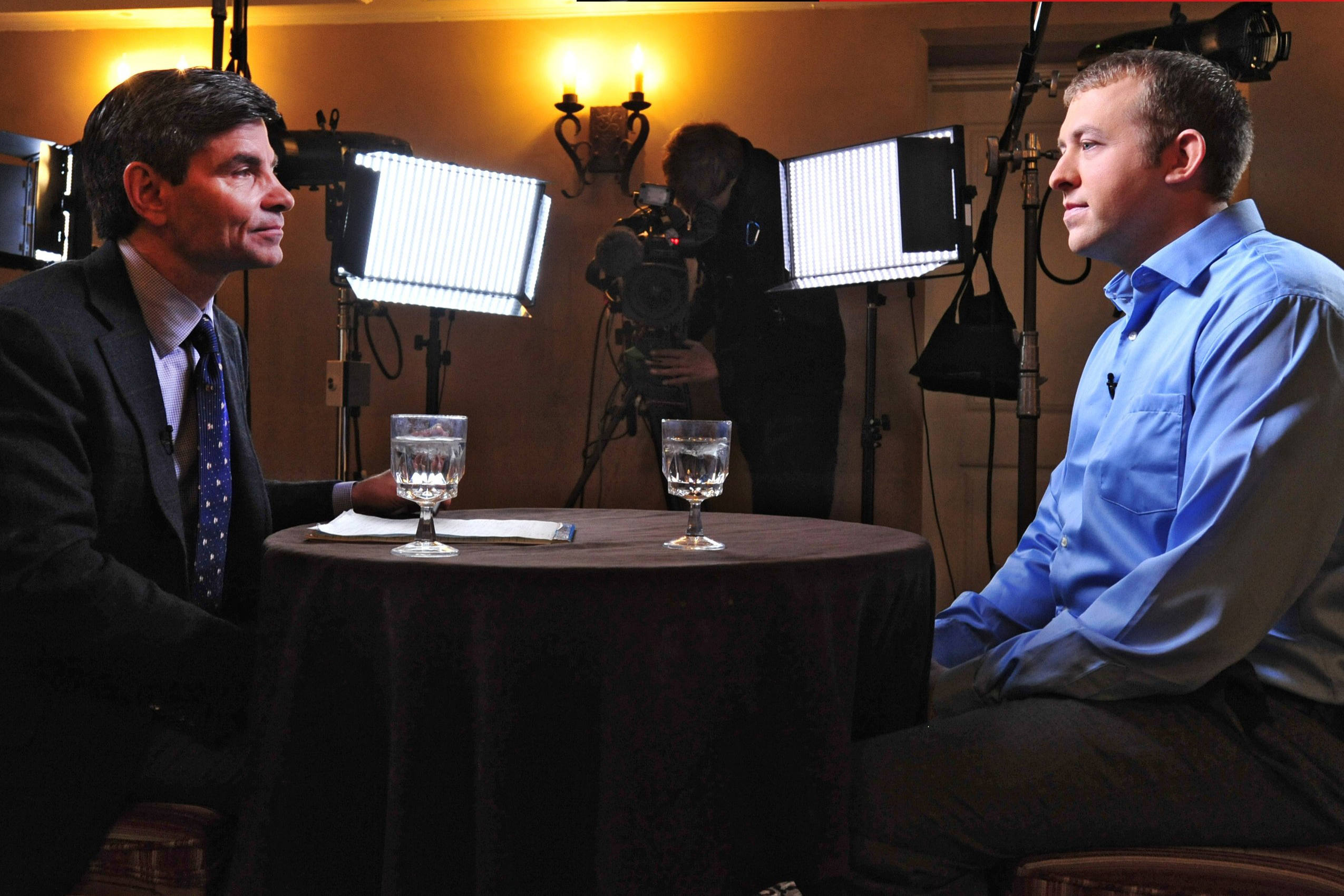 Police officer Darren Wilson breaks his silence about the shooting of Michael Brown in an interview with ABC News' George Stephanopoulos on Nov. 25, 2014