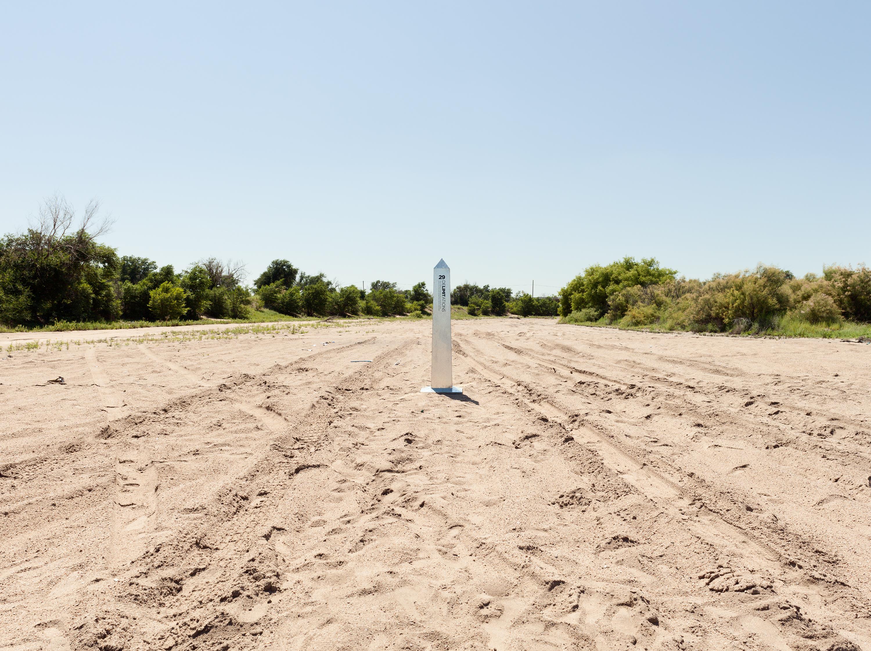 Monument 29, Arkansas River (dry), Near Garden City, Kansas