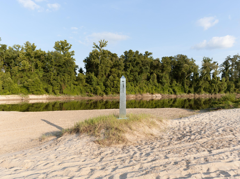 Monument 44, Sabine River, east of Bon Weir, Texas