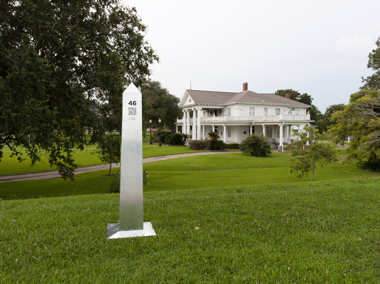 Monument 47, Sabine River Levee, Port Arthur, Texas