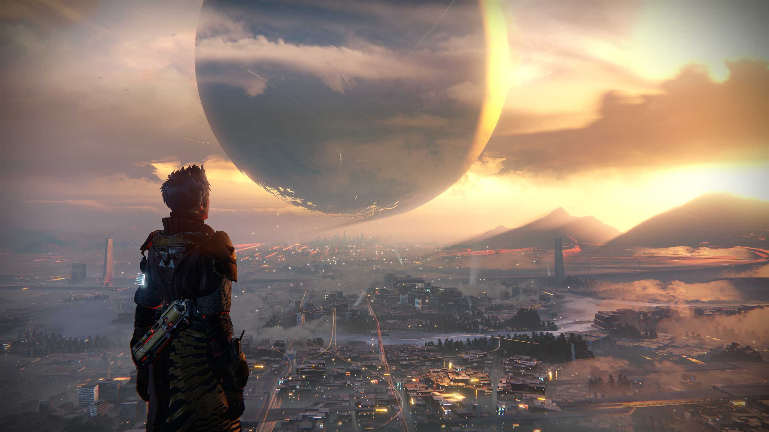 Destiny                                          Built from scratch by ex-Halo studio Bungie, Destiny's game engine was designed to scale across the next decade, says the studio.