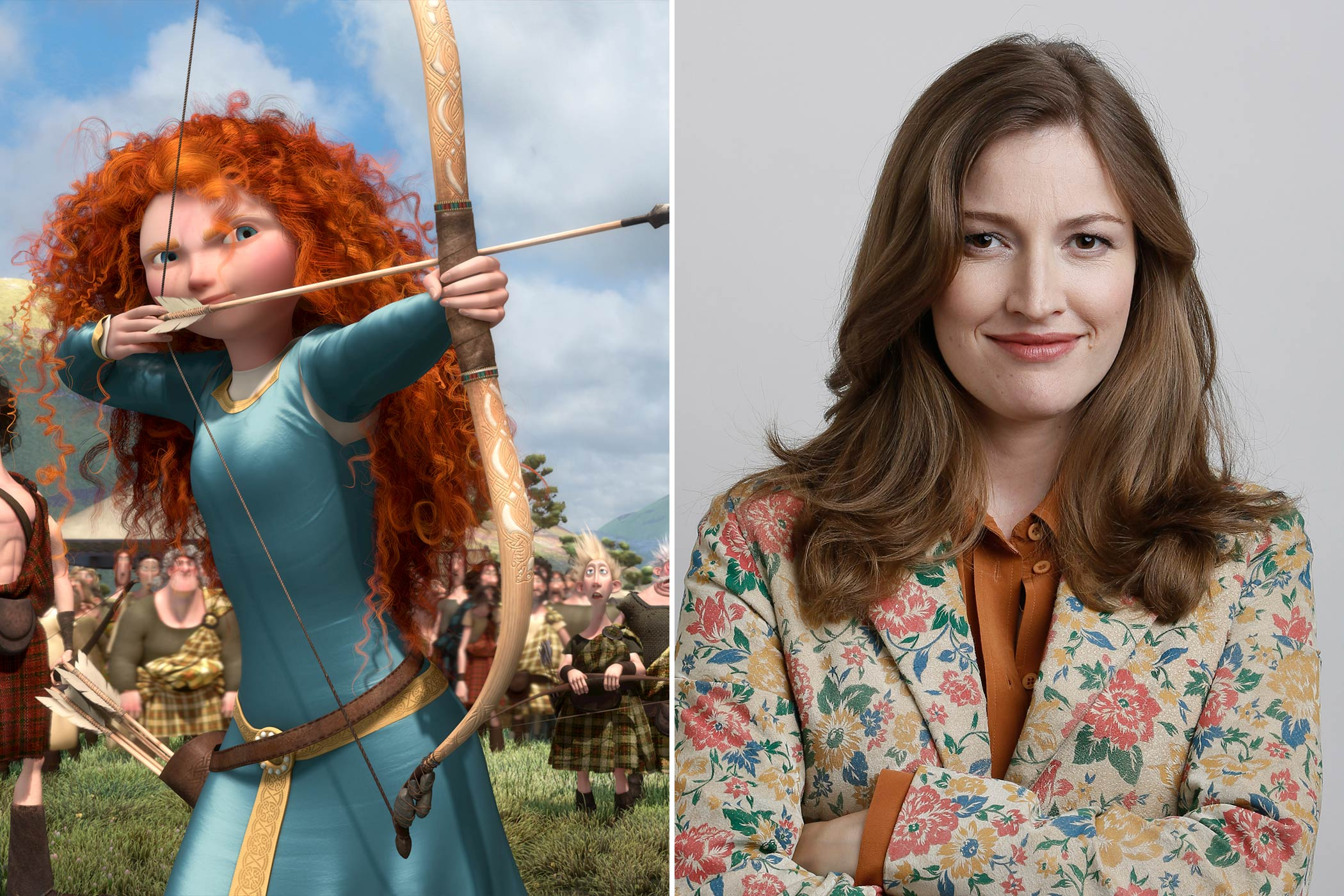 <strong>Merida: Kelly Macdonald</strong>                                   The Scottish actress made her movie debut in the cult classic <i>Trainspotting</i> and played Helena Ravenclaw in <i>Harry Potter and the Deathly Hallows – Part 2</i> before voicing Merida, the first Disney princess produced by Pixar.
