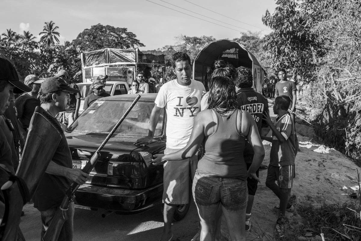 Cars are searched in the wake of the disappearance of the students and recent drug cartel violence.