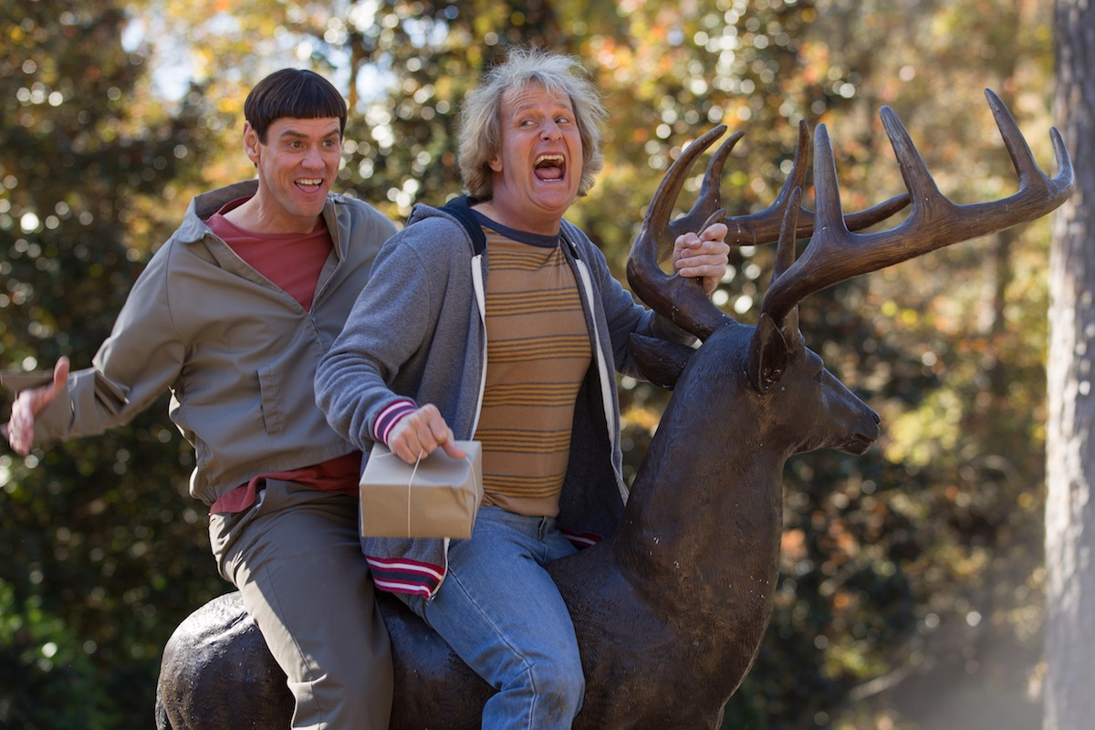 Jim Carrey, left, and Jeff Daniels in a scene from  Dumb and Dumber To.